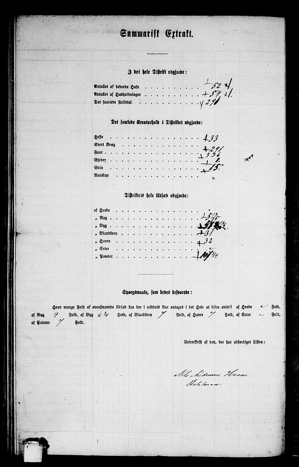 RA, Folketelling 1865 for 1563P Sunndal prestegjeld, 1865, s. 64