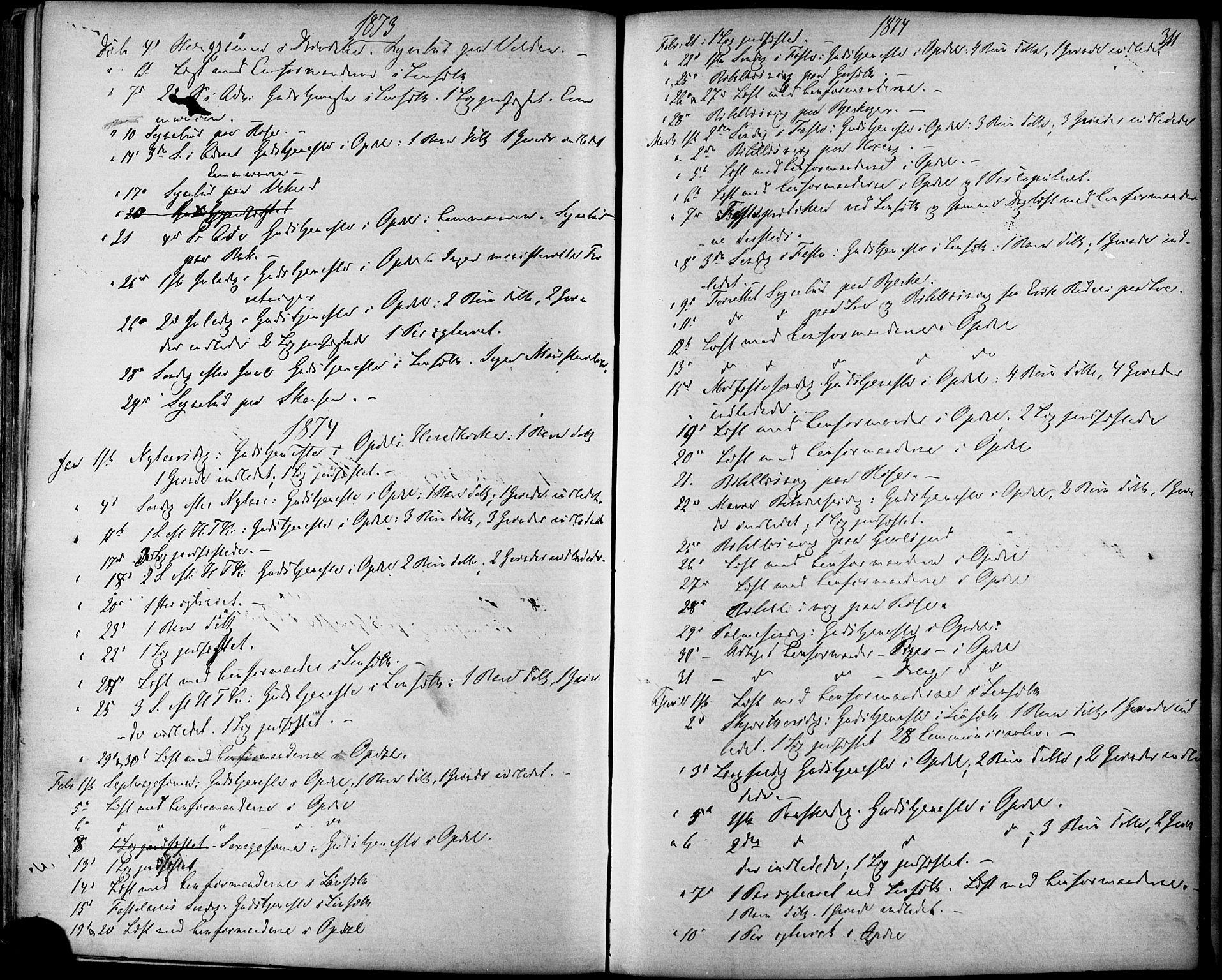 SAT, Ministerialprotokoller, klokkerbøker og fødselsregistre - Sør-Trøndelag, 678/L0900: Ministerialbok nr. 678A09, 1872-1881, s. 311