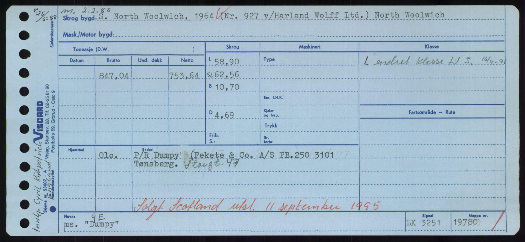 RA, Sjøfartsdirektoratet med forløpere, Skipsmålingen, H/Hd/L0008: Fartøy, C-D, s. 695