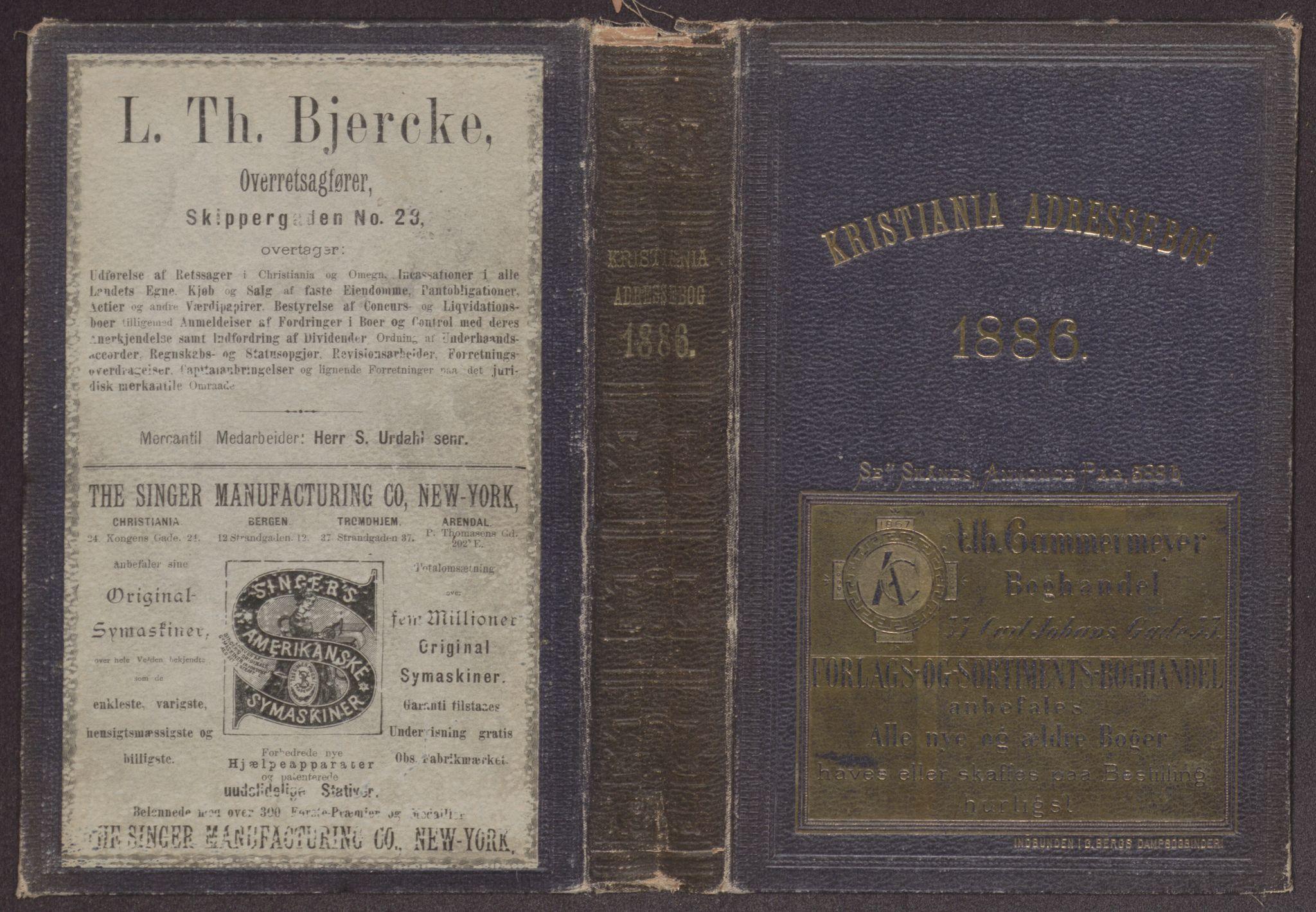 PUBL, Kristiania/Oslo adressebok, 1886