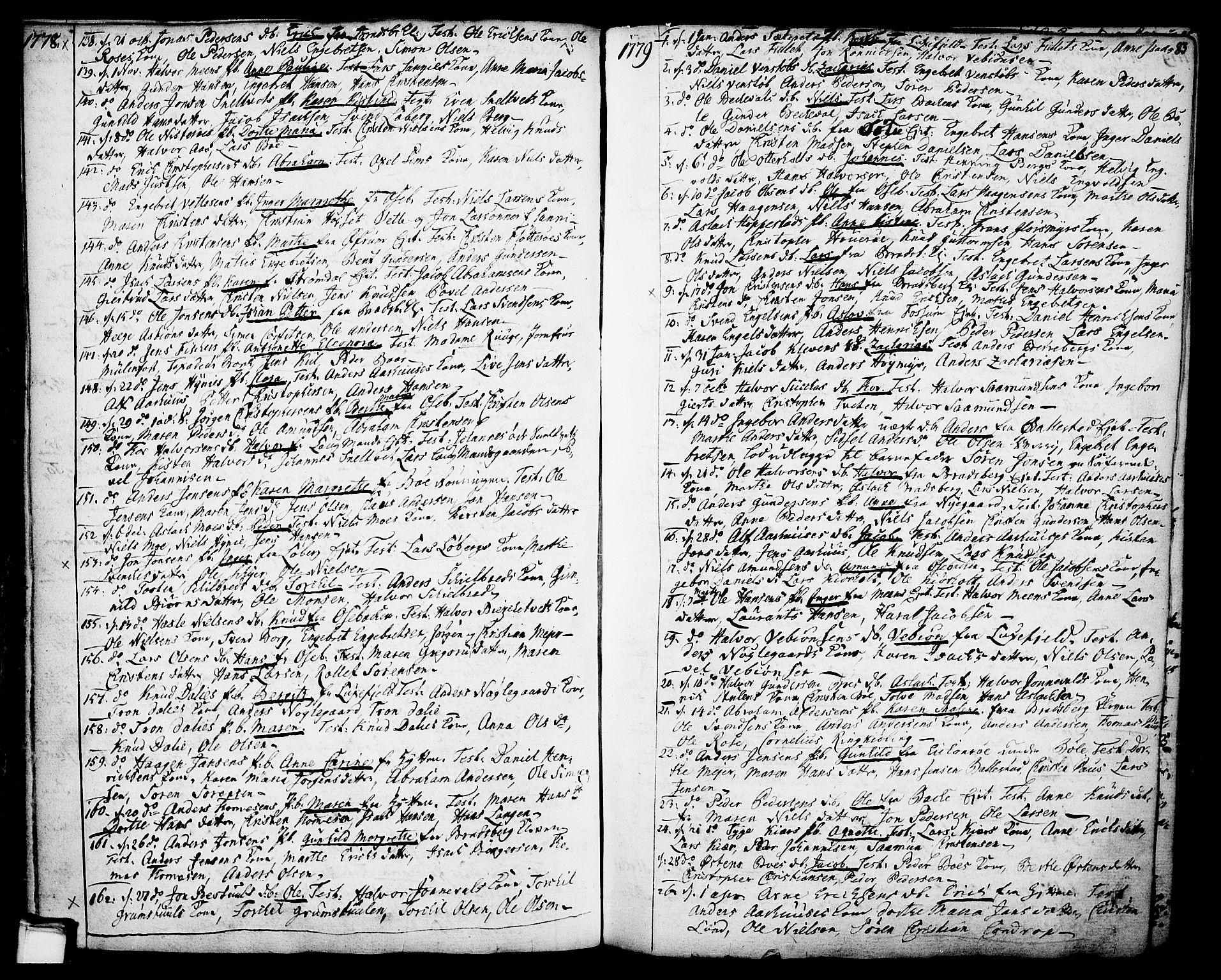 SAKO, Gjerpen kirkebøker, F/Fa/L0002: Ministerialbok nr. 2, 1747-1795, s. 83