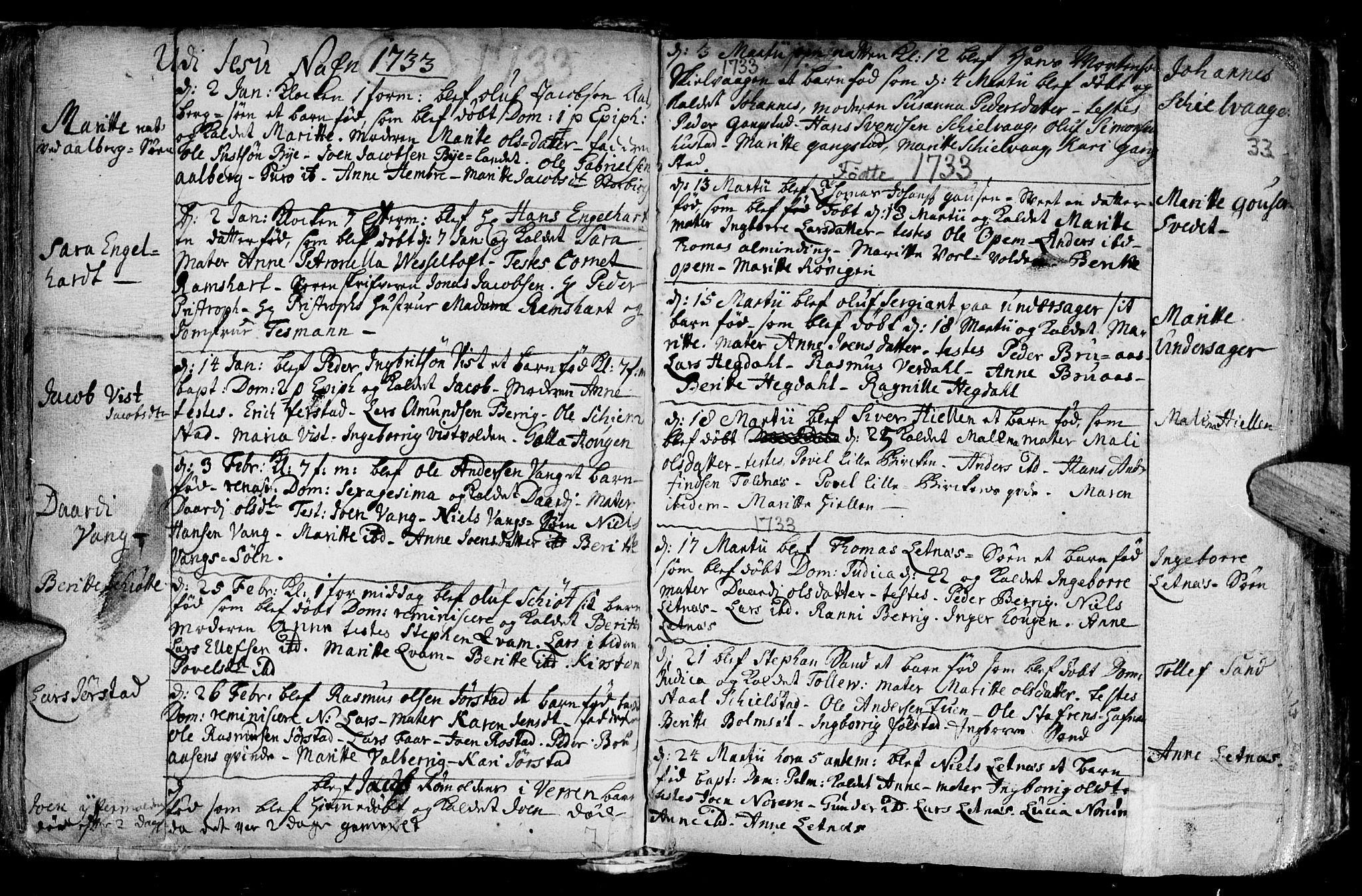 SAT, Ministerialprotokoller, klokkerbøker og fødselsregistre - Nord-Trøndelag, 730/L0272: Ministerialbok nr. 730A01, 1733-1764, s. 33