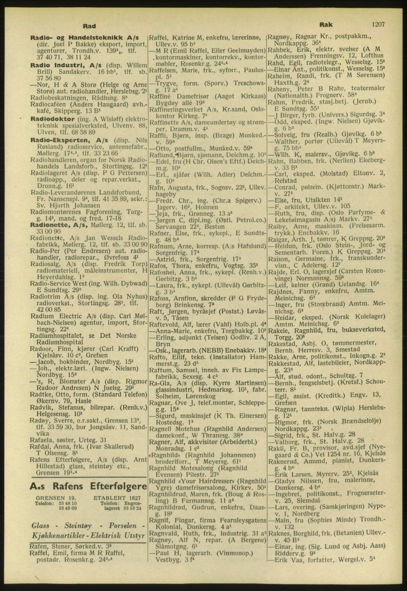PUBL, Kristiania/Oslo adressebok, 1952, s. 1207