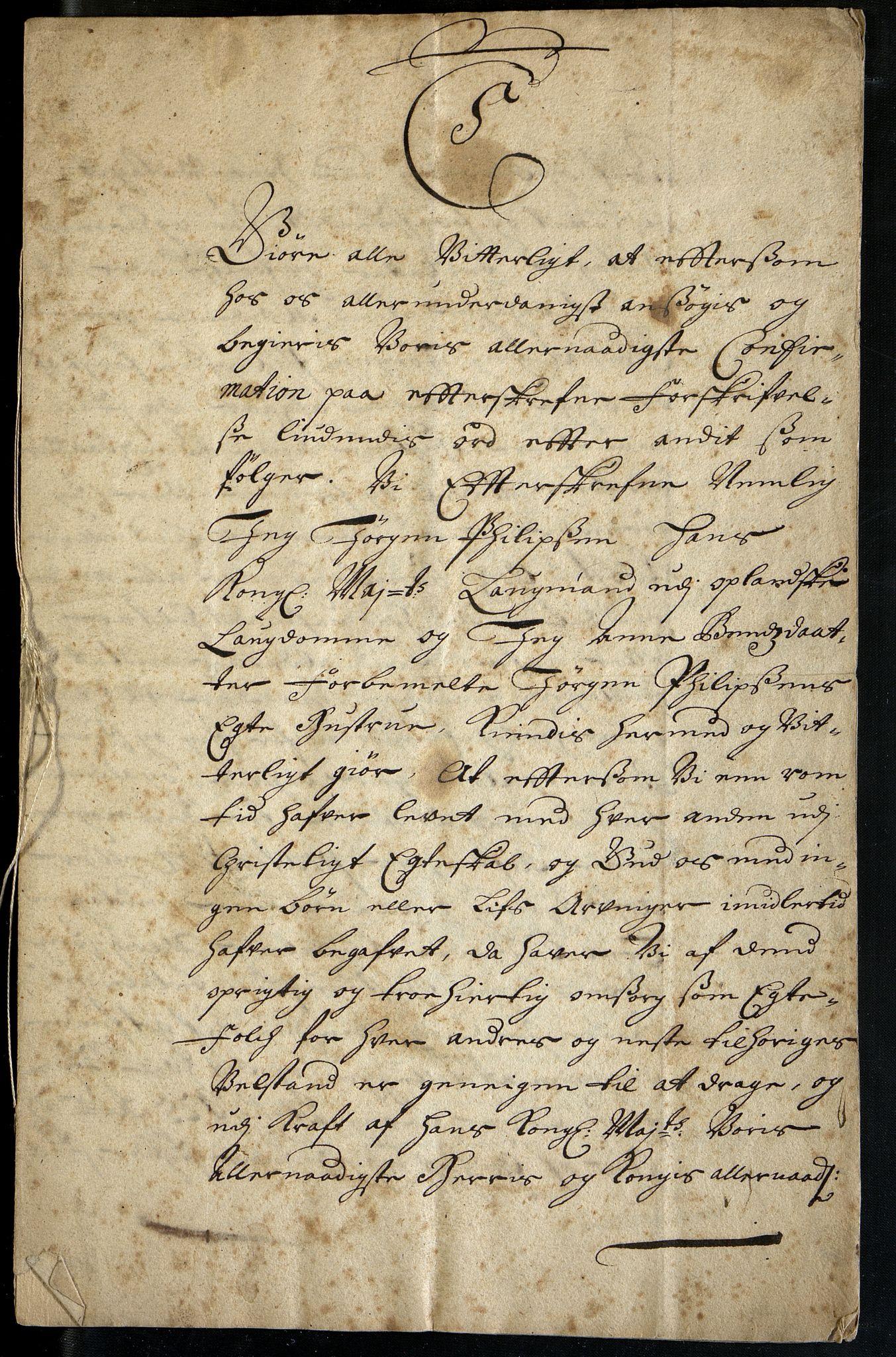 OBA, Oslo Hospital, D/Da/L0001: Saks og korrespondansearkiv, 1685