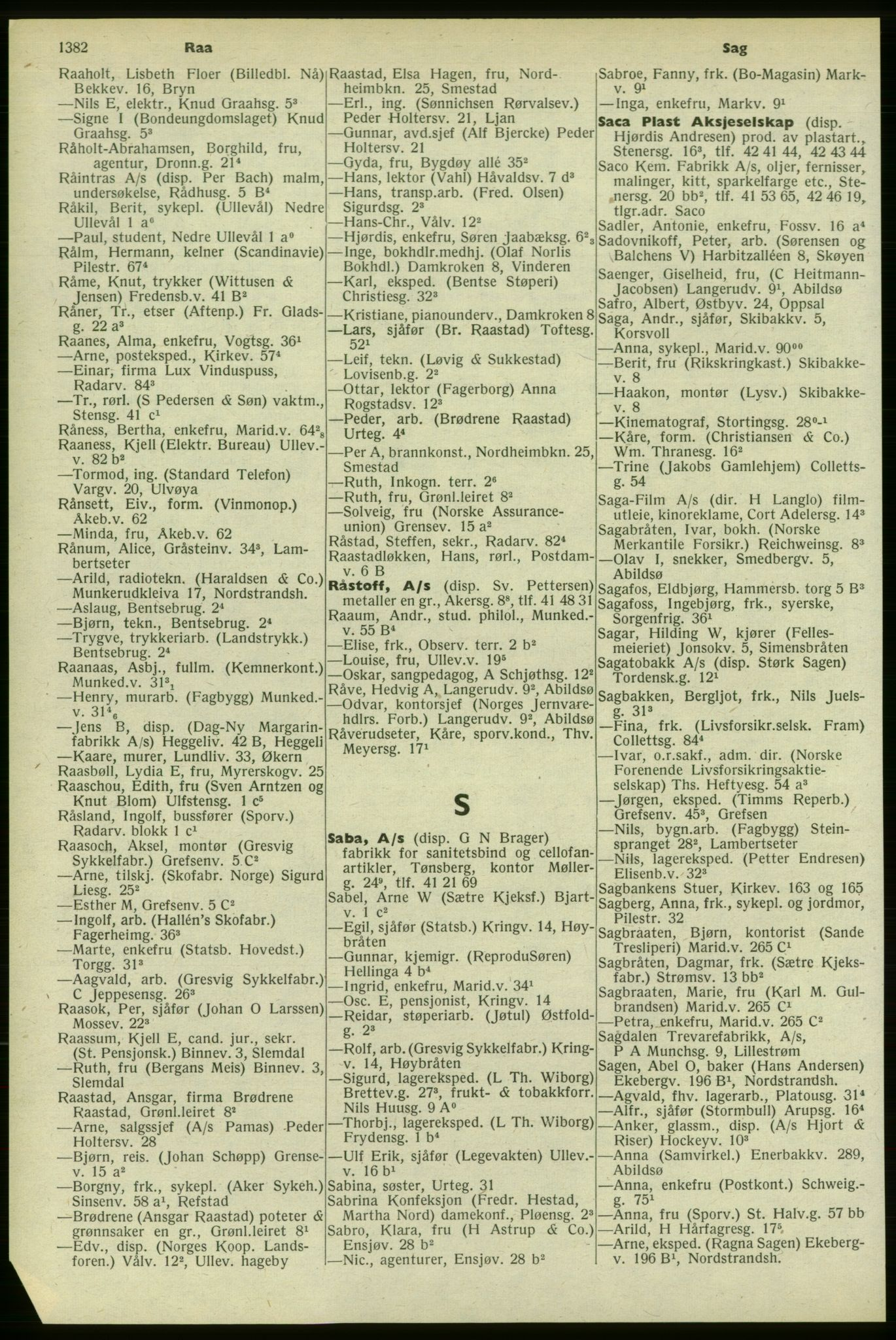 PUBL, Kristiania/Oslo adressebok, 1958-1959, s. 1382