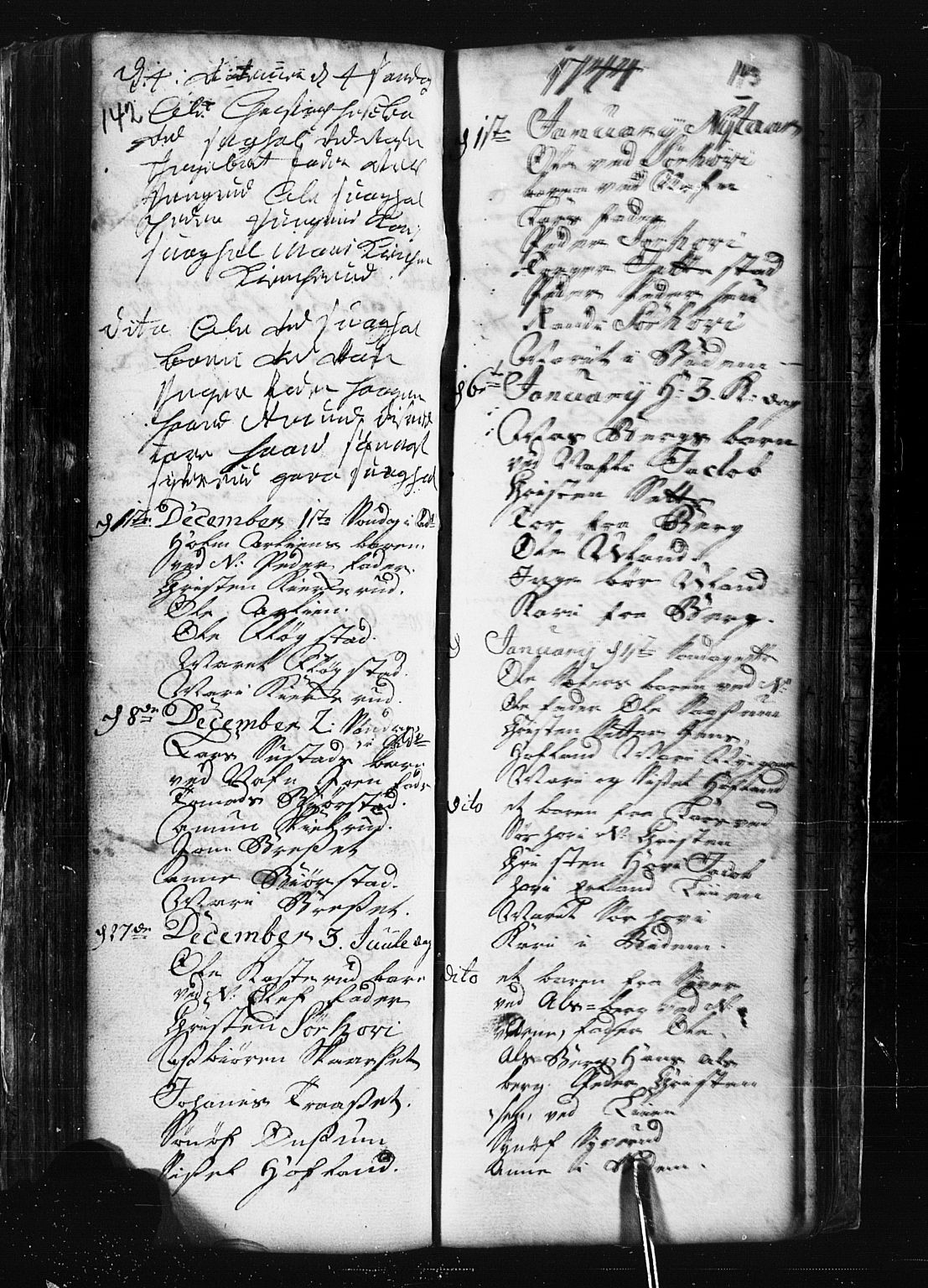 SAH, Fåberg prestekontor, Klokkerbok nr. 1, 1727-1767, s. 142-143
