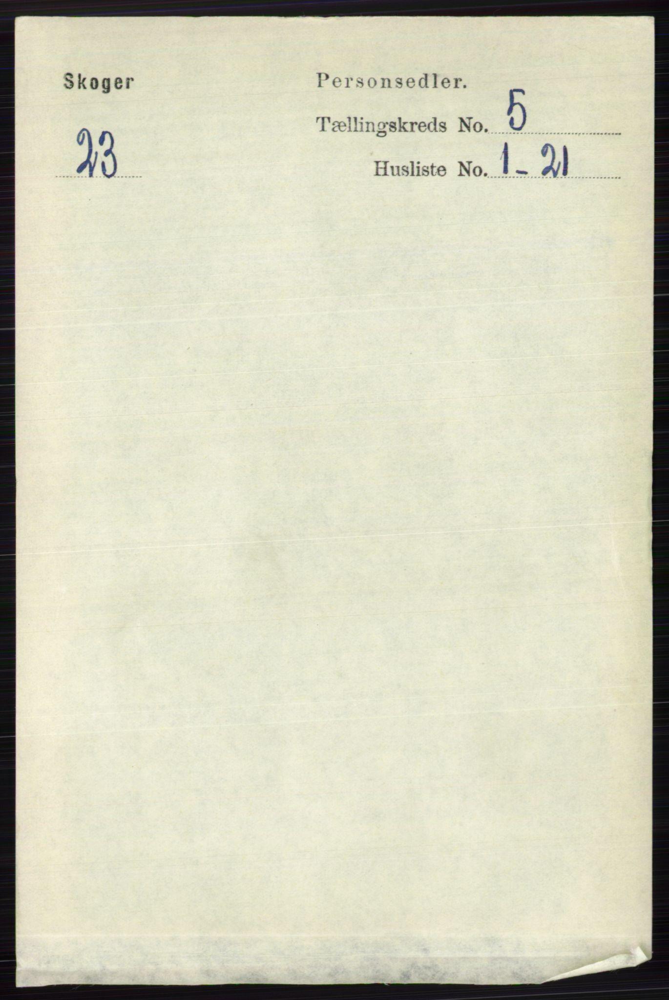 RA, Folketelling 1891 for 0712 Skoger herred, 1891, s. 3108