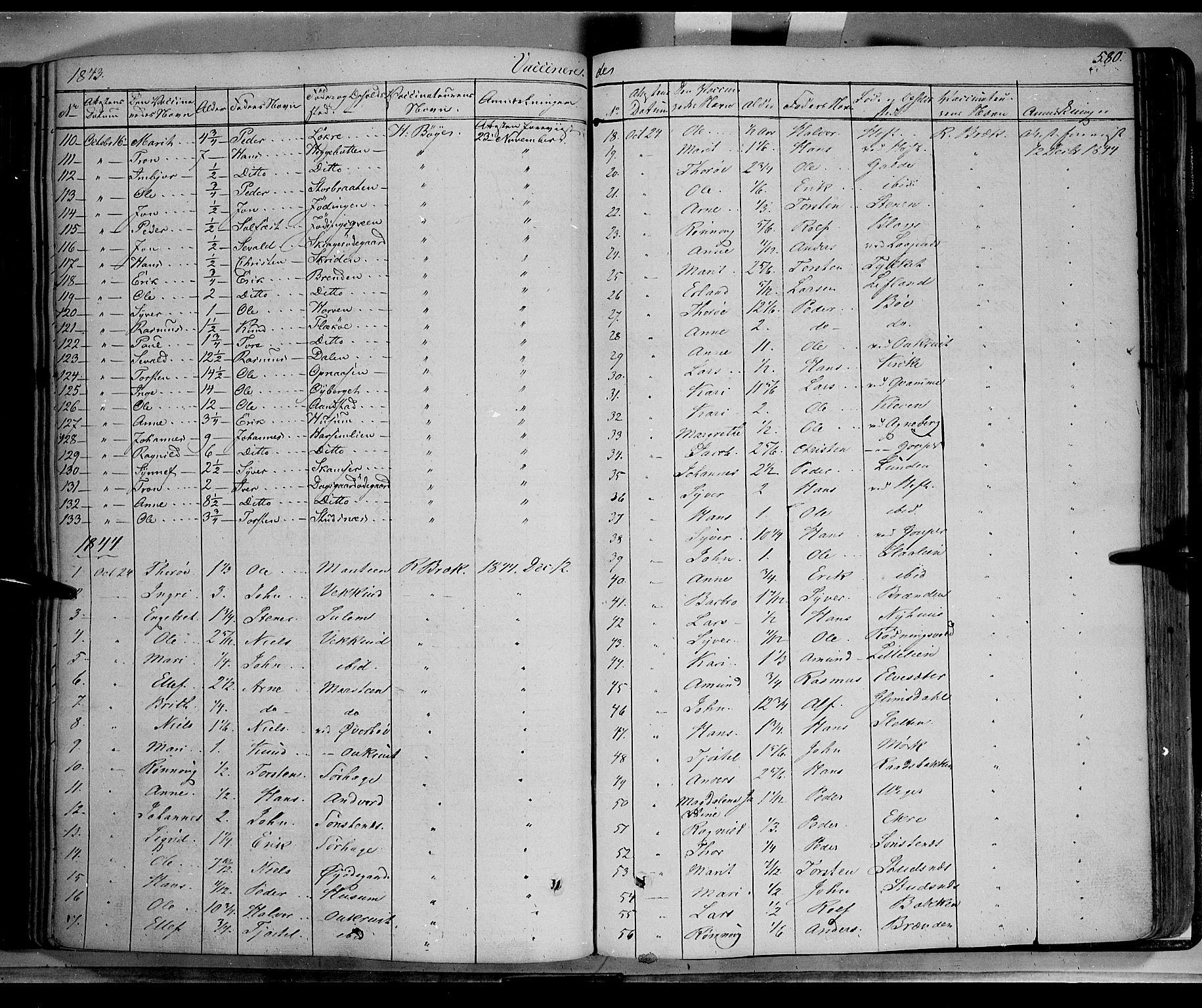 SAH, Lom prestekontor, K/L0006: Ministerialbok nr. 6B, 1837-1863, s. 580