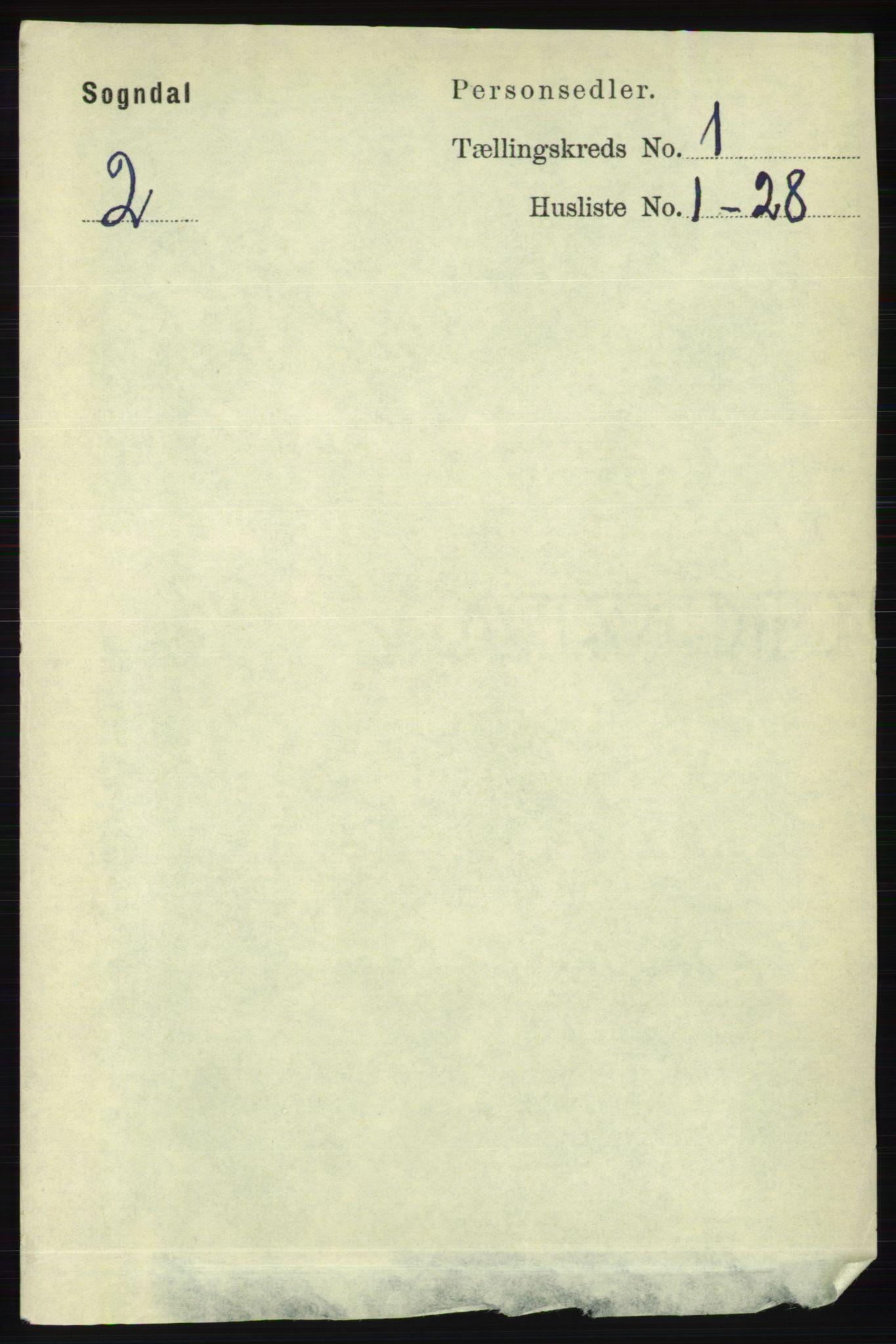 RA, Folketelling 1891 for 1111 Sokndal herred, 1891, s. 86