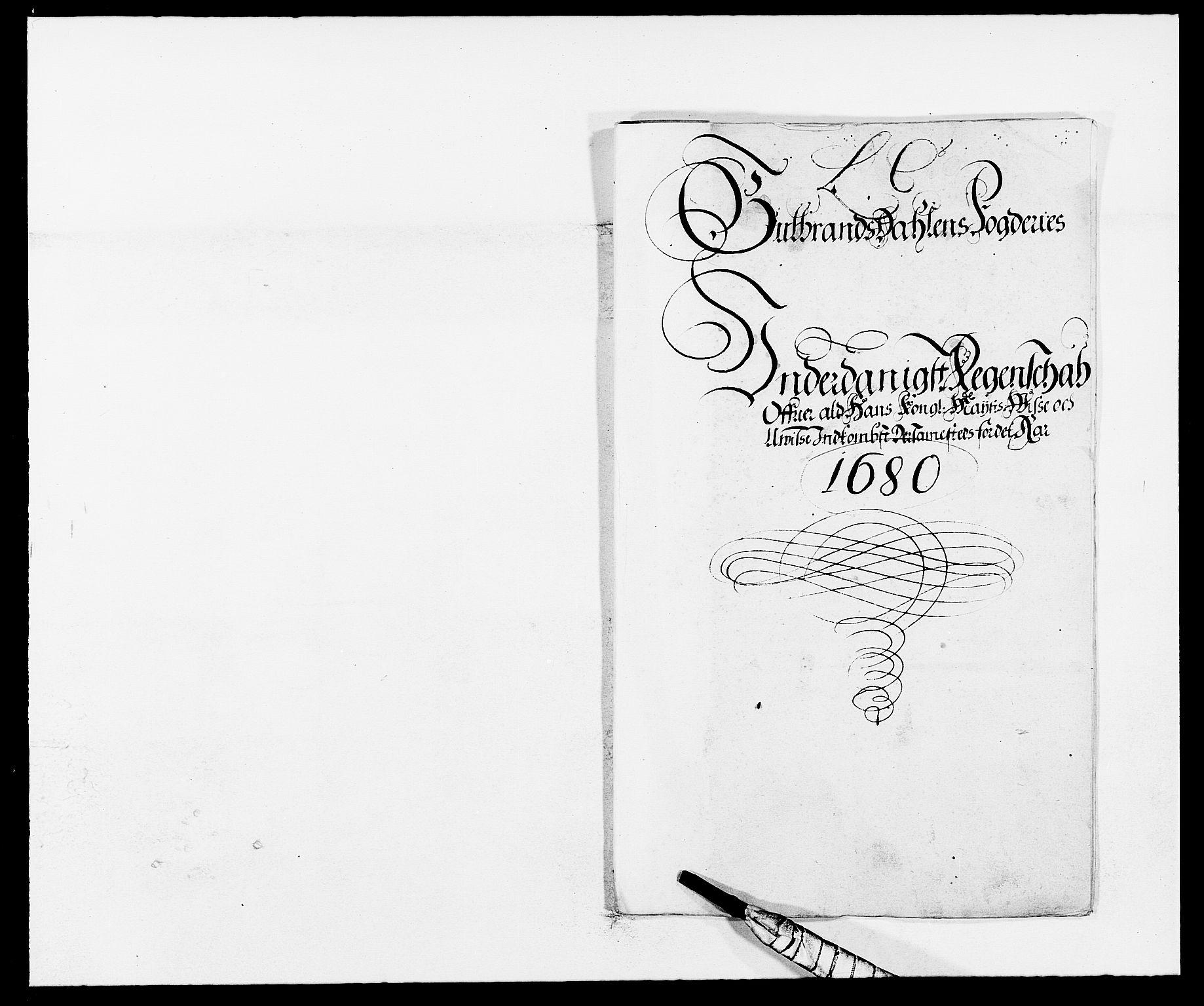 RA, Rentekammeret inntil 1814, Reviderte regnskaper, Fogderegnskap, R17/L1154: Fogderegnskap Gudbrandsdal, 1680, s. 2