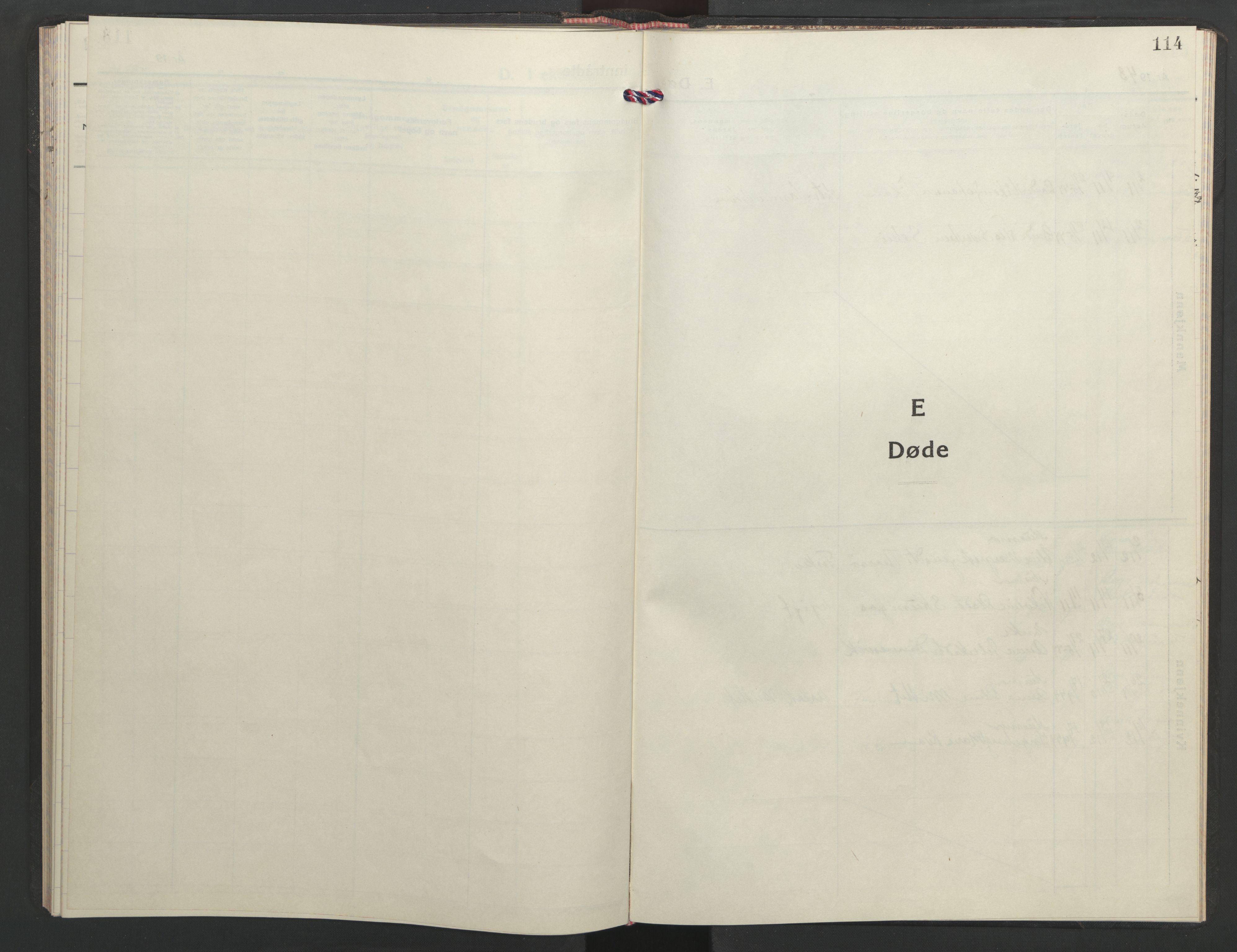 SAT, Ministerialprotokoller, klokkerbøker og fødselsregistre - Sør-Trøndelag, 635/L0556: Klokkerbok nr. 635C04, 1943-1945, s. 114