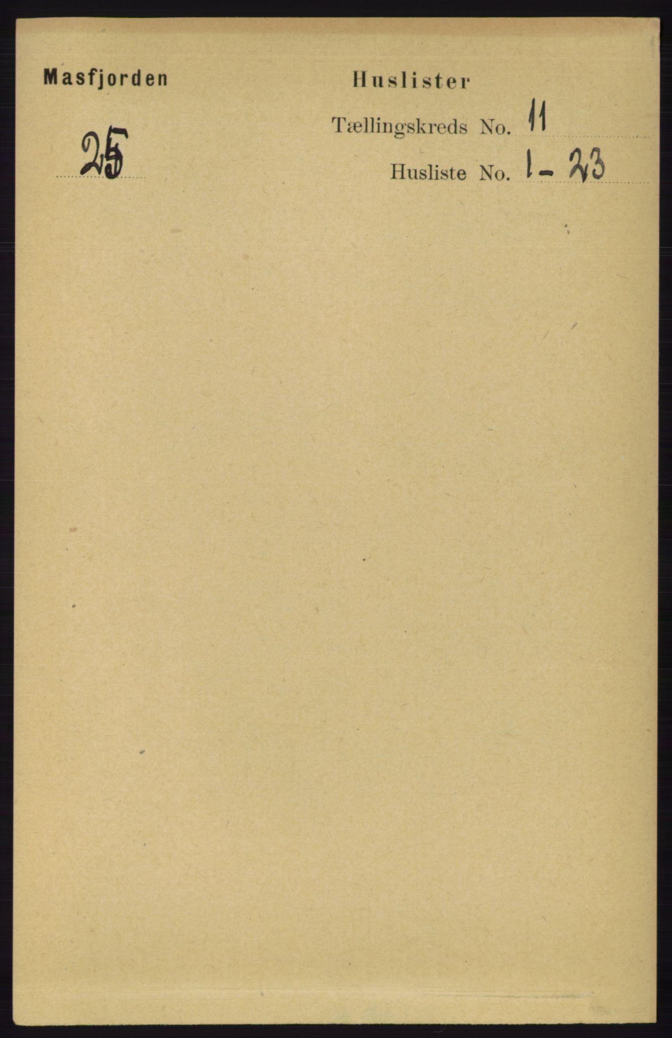 RA, Folketelling 1891 for 1266 Masfjorden herred, 1891, s. 2242