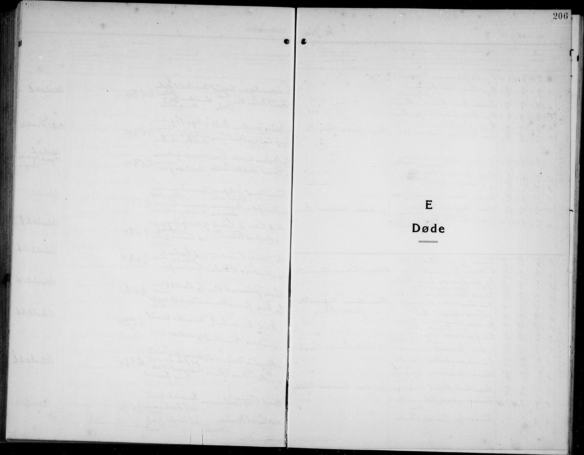 SAB, Førde Sokneprestembete, H/Hab: Klokkerbok nr. A 4, 1924-1941, s. 206