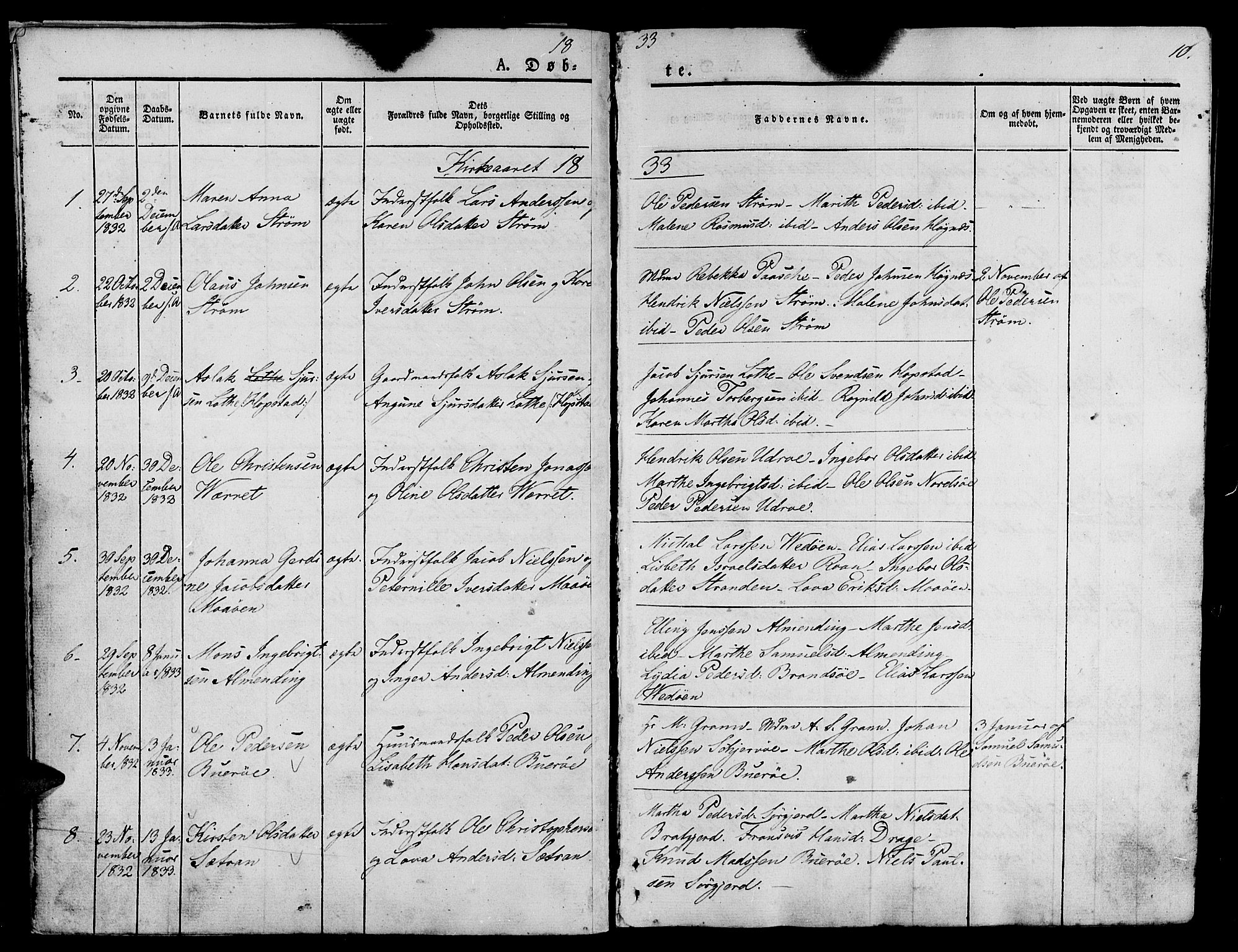 SAT, Ministerialprotokoller, klokkerbøker og fødselsregistre - Sør-Trøndelag, 657/L0703: Ministerialbok nr. 657A04, 1831-1846, s. 10