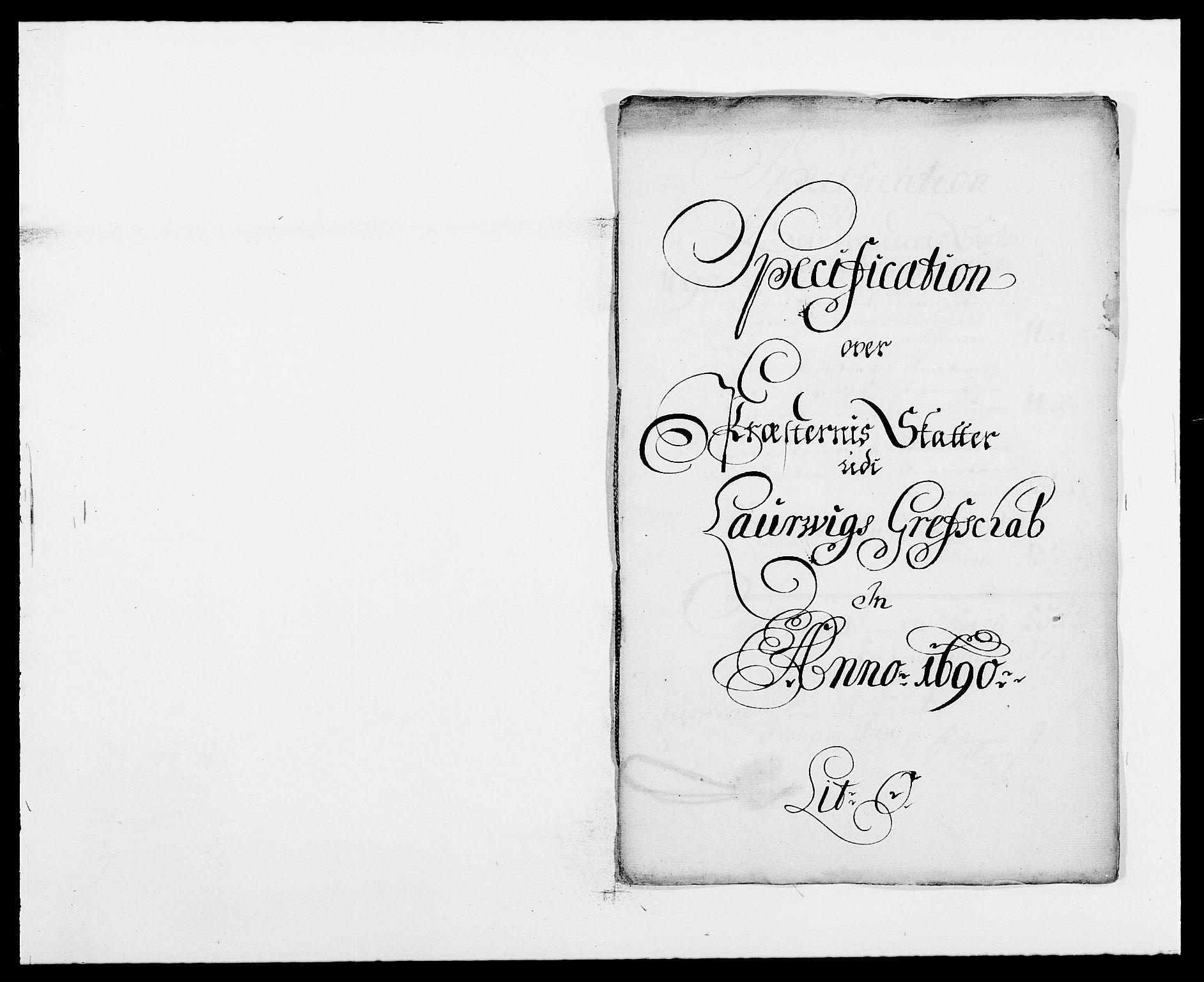 RA, Rentekammeret inntil 1814, Reviderte regnskaper, Fogderegnskap, R33/L1972: Fogderegnskap Larvik grevskap, 1690-1691, s. 183