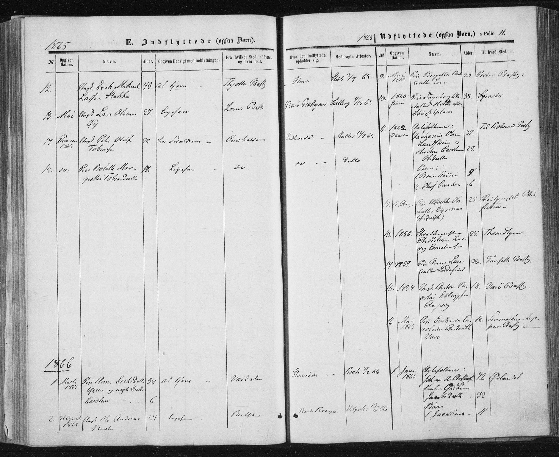 SAT, Ministerialprotokoller, klokkerbøker og fødselsregistre - Nord-Trøndelag, 784/L0670: Ministerialbok nr. 784A05, 1860-1876, s. 11