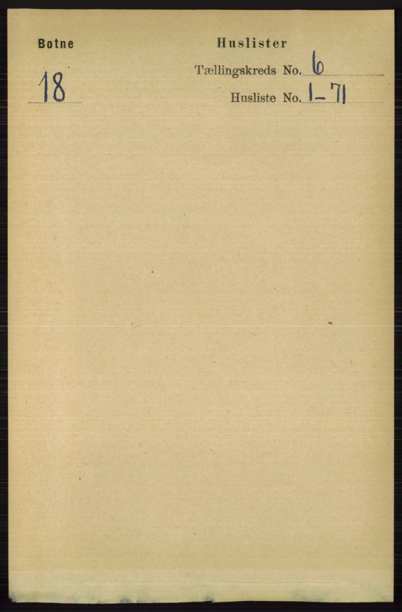 RA, Folketelling 1891 for 0715 Botne herred, 1891, s. 2216