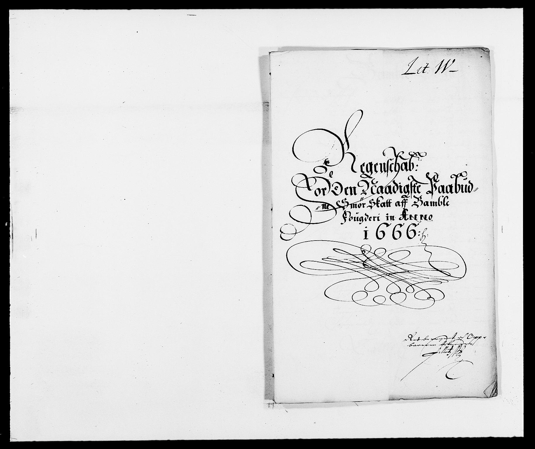 RA, Rentekammeret inntil 1814, Reviderte regnskaper, Fogderegnskap, R34/L2039: Fogderegnskap Bamble, 1662-1669, s. 64