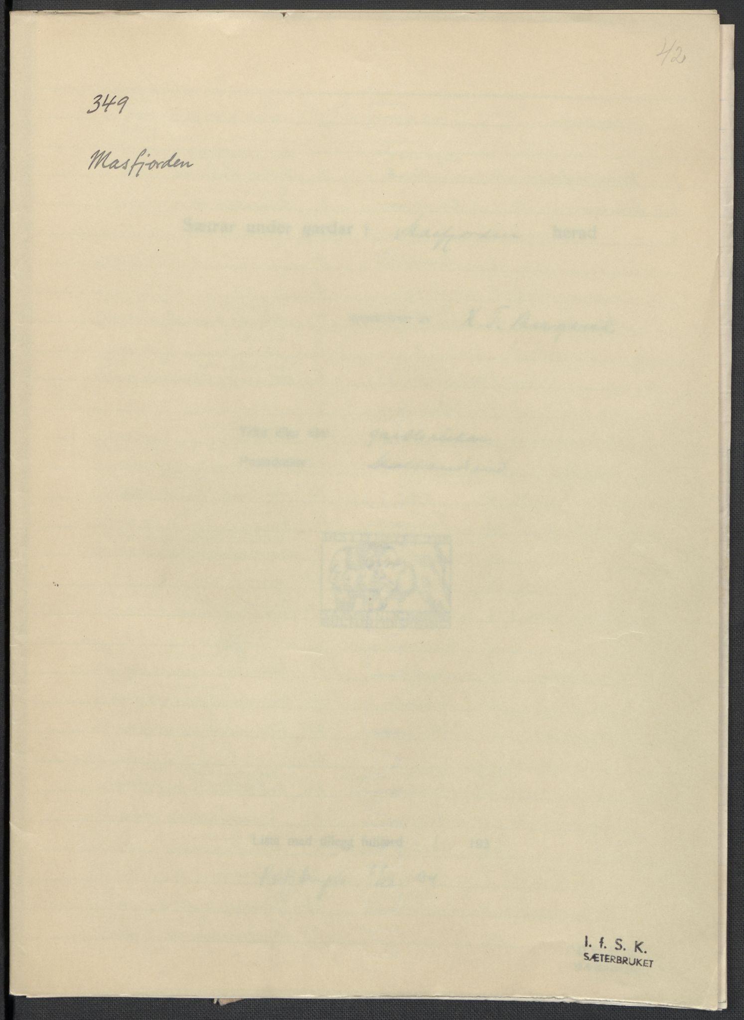 RA, Instituttet for sammenlignende kulturforskning, F/Fc/L0010: Eske B10:, 1932-1935, s. 42