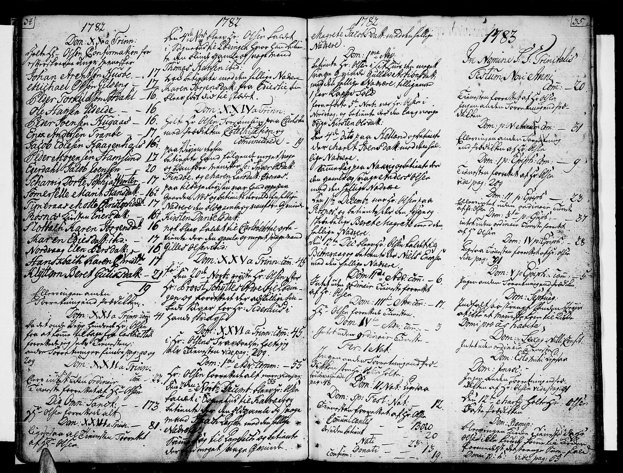 SAT, Ministerialprotokoller, klokkerbøker og fødselsregistre - Nordland, 859/L0841: Ministerialbok nr. 859A01, 1766-1821, s. 34-35