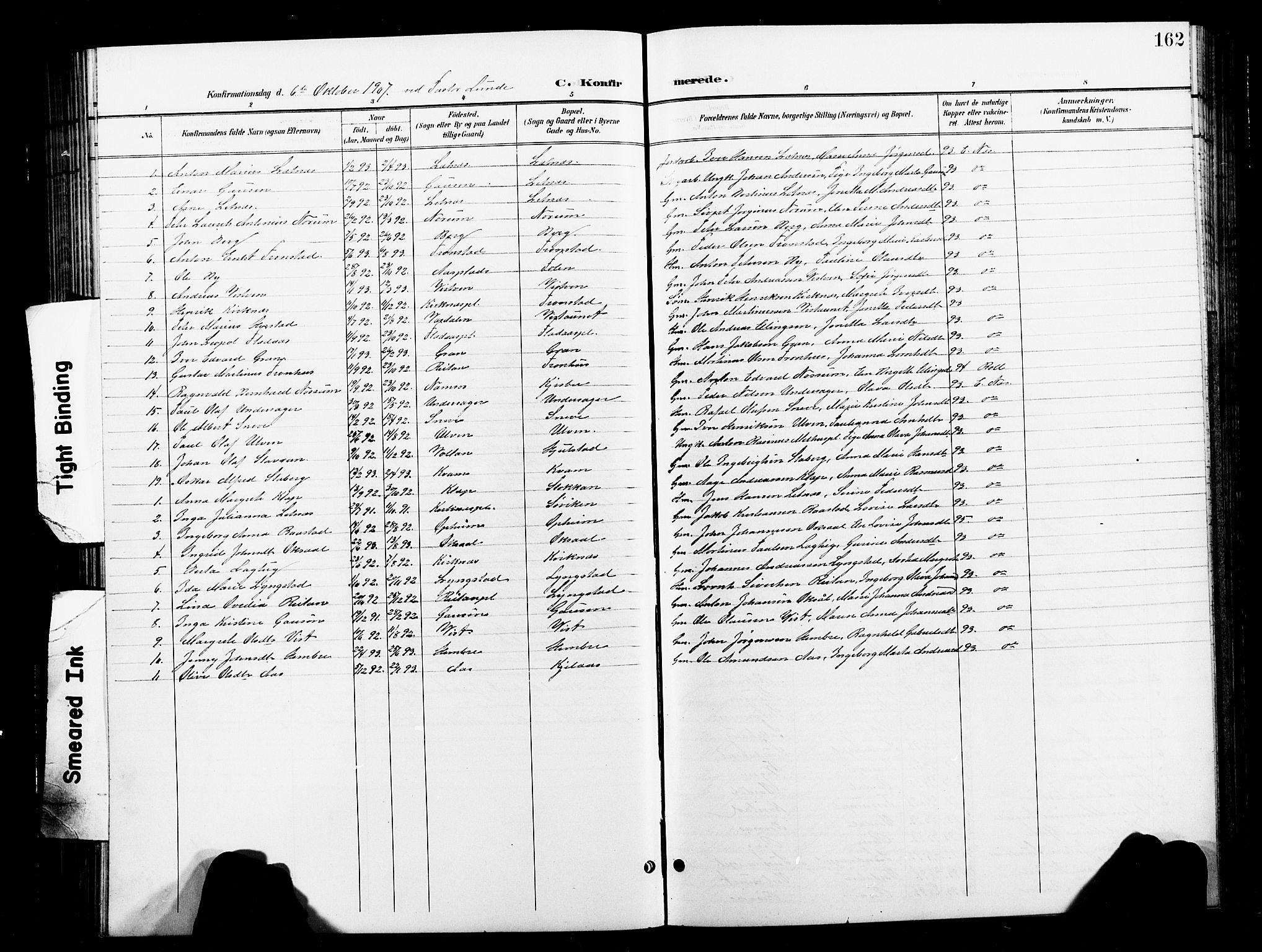 SAT, Ministerialprotokoller, klokkerbøker og fødselsregistre - Nord-Trøndelag, 730/L0302: Klokkerbok nr. 730C05, 1898-1924, s. 162