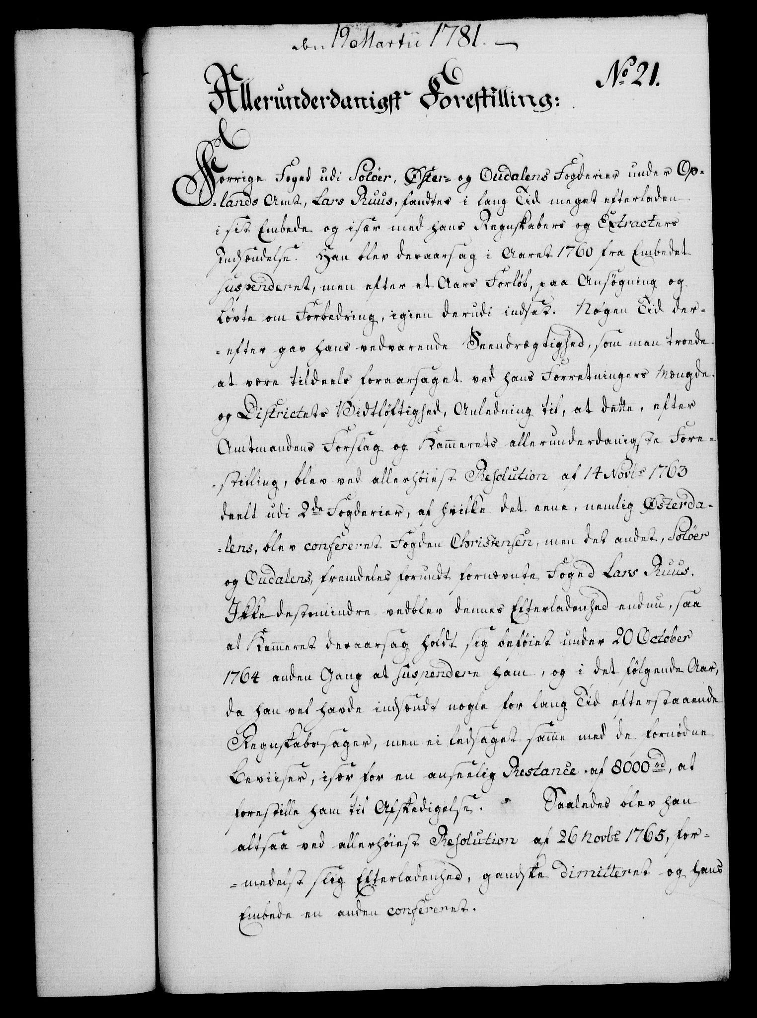 RA, Rentekammeret, Kammerkanselliet, G/Gf/Gfa/L0063: Norsk relasjons- og resolusjonsprotokoll (merket RK 52.63), 1781, s. 147