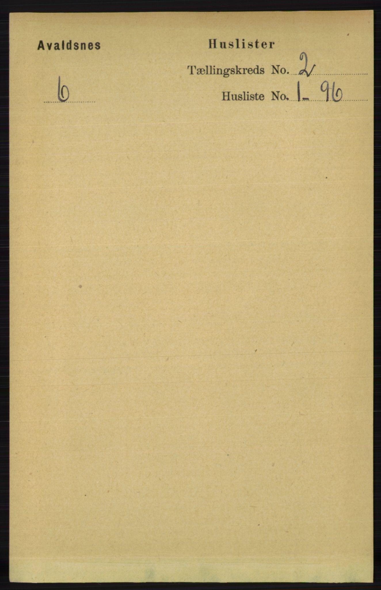 RA, Folketelling 1891 for 1147 Avaldsnes herred, 1891, s. 1889