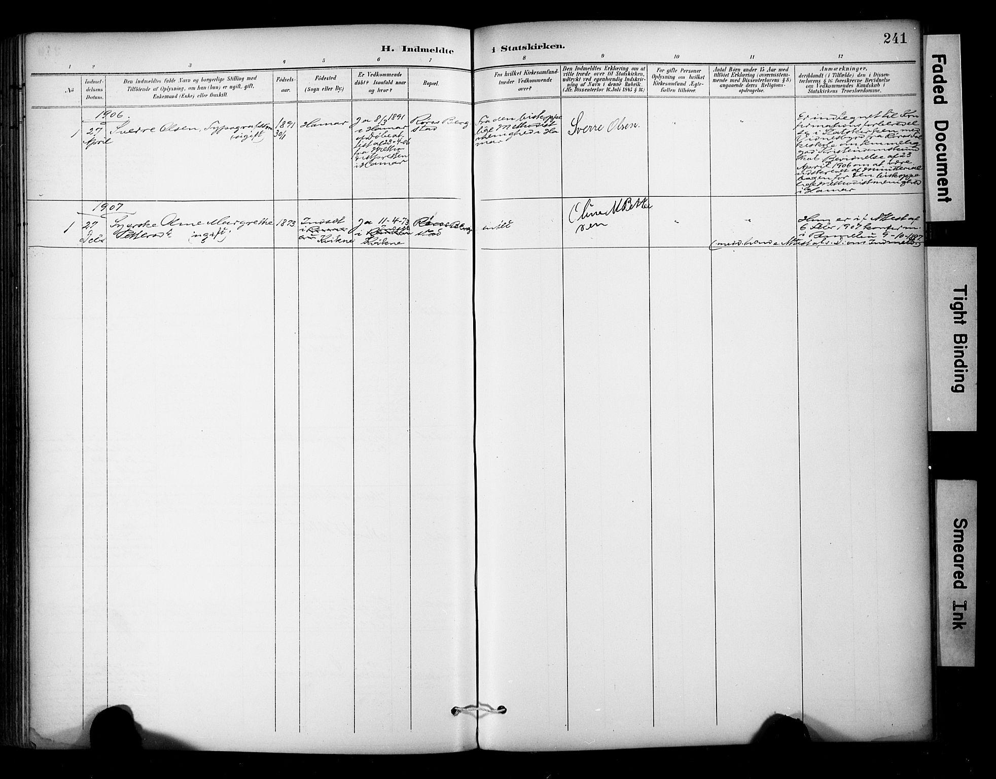 SAT, Ministerialprotokoller, klokkerbøker og fødselsregistre - Sør-Trøndelag, 681/L0936: Ministerialbok nr. 681A14, 1899-1908, s. 241