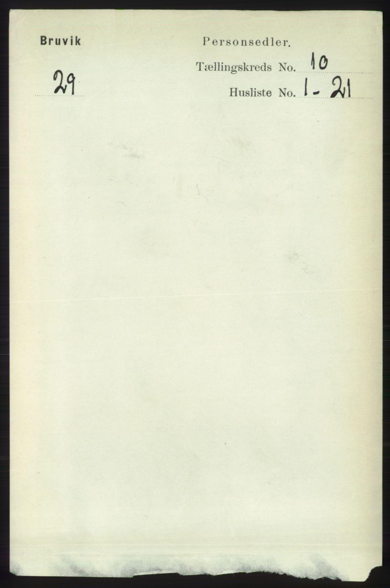 RA, Folketelling 1891 for 1251 Bruvik herred, 1891, s. 3653