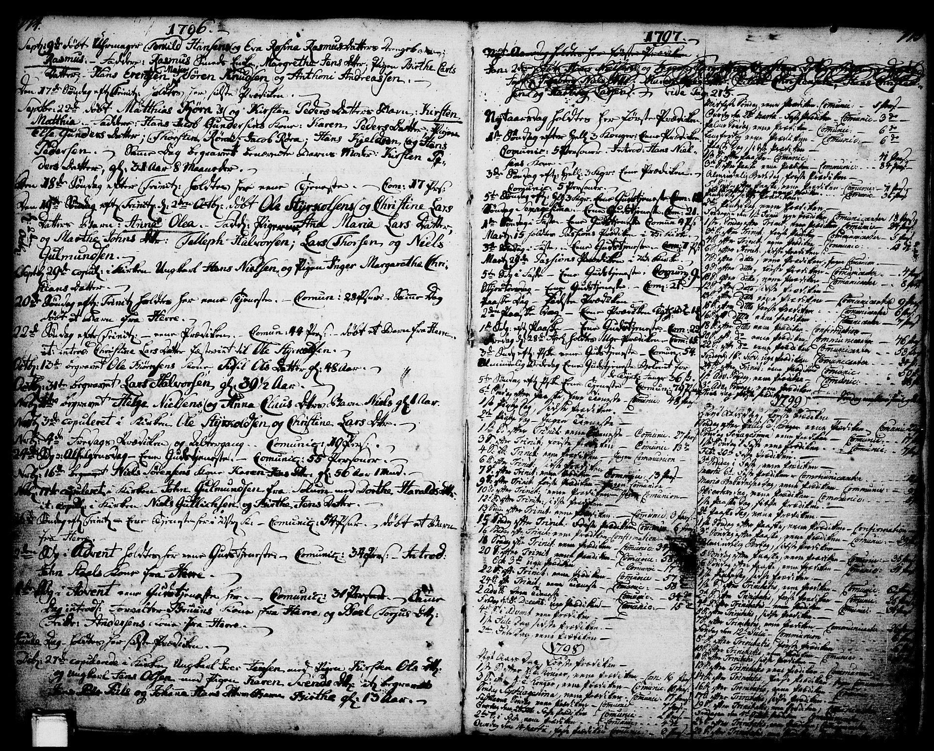 SAKO, Porsgrunn kirkebøker , F/Fa/L0001: Ministerialbok nr. 1, 1764-1814, s. 174-175