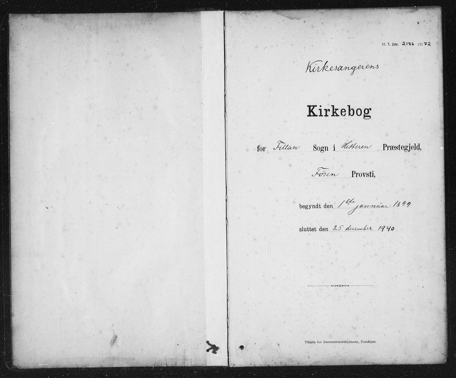 SAT, Ministerialprotokoller, klokkerbøker og fødselsregistre - Sør-Trøndelag, 637/L0563: Klokkerbok nr. 637C04, 1899-1940