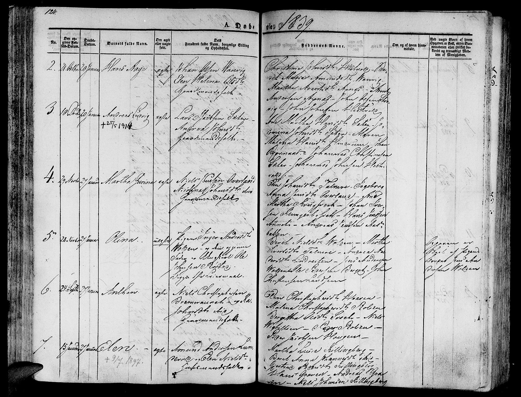 SAT, Ministerialprotokoller, klokkerbøker og fødselsregistre - Nord-Trøndelag, 701/L0006: Ministerialbok nr. 701A06, 1825-1841, s. 124