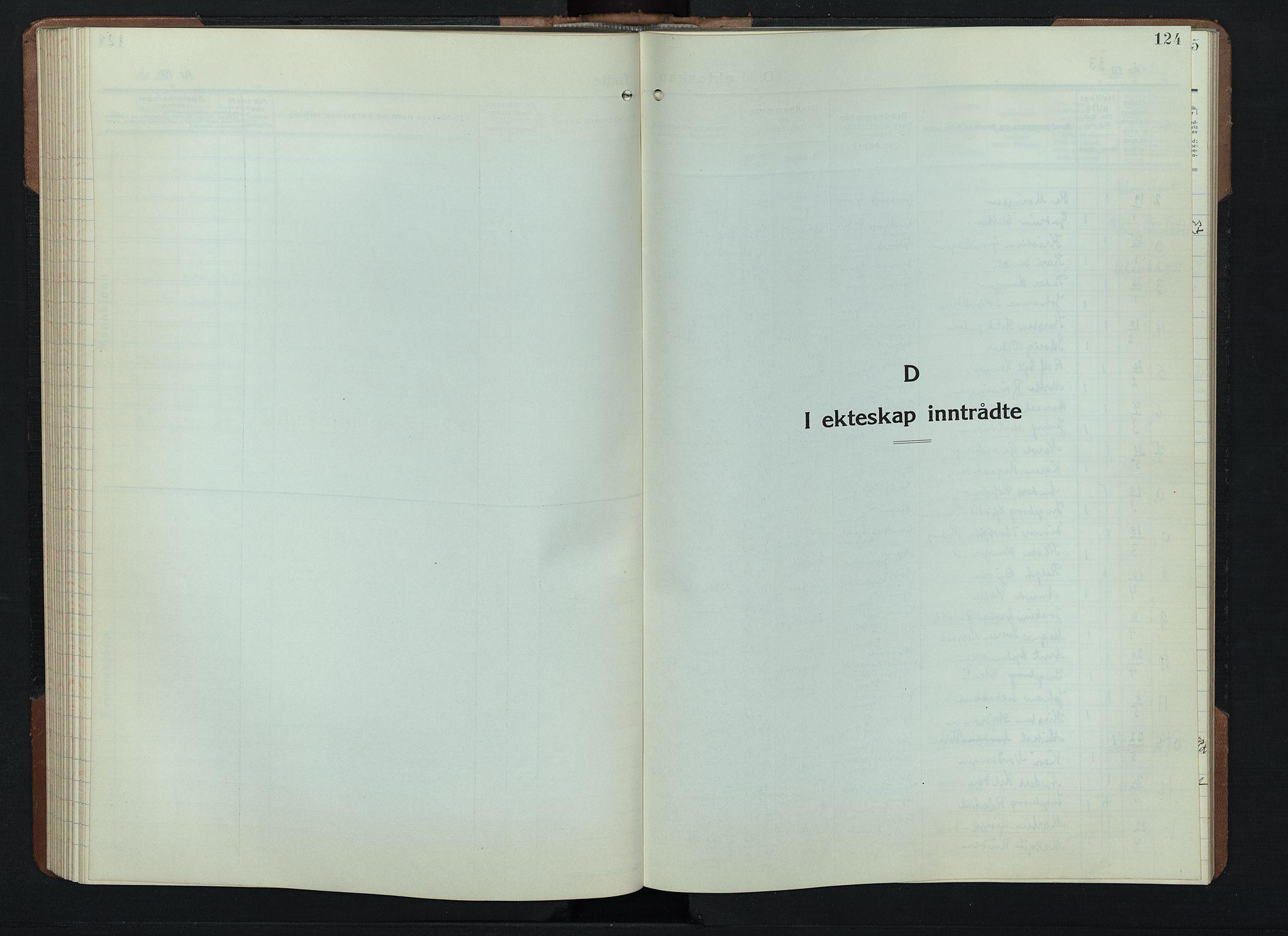 SAH, Gran prestekontor, Klokkerbok nr. 9, 1933-1950, s. 124