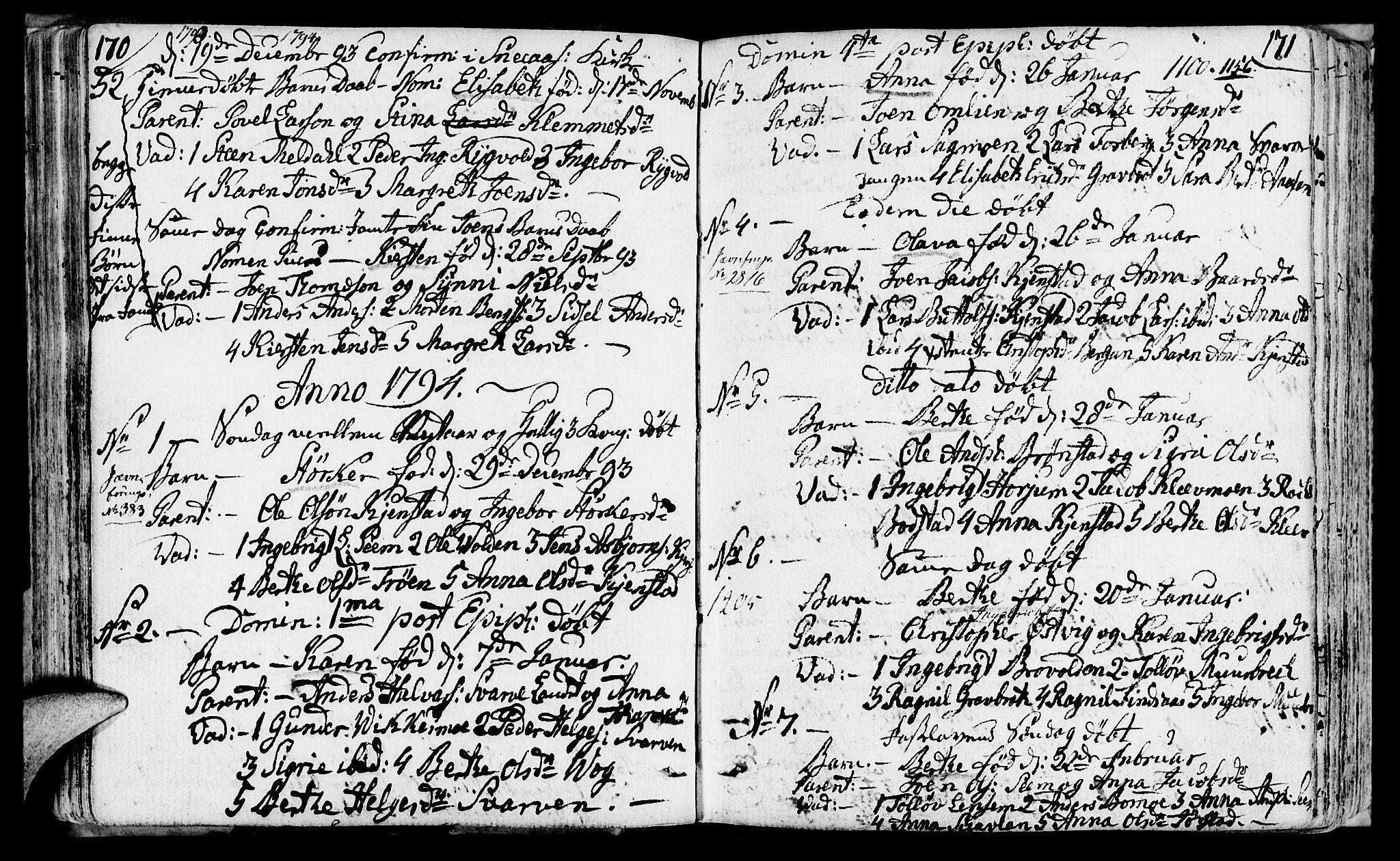 SAT, Ministerialprotokoller, klokkerbøker og fødselsregistre - Nord-Trøndelag, 749/L0468: Ministerialbok nr. 749A02, 1787-1817, s. 170-171
