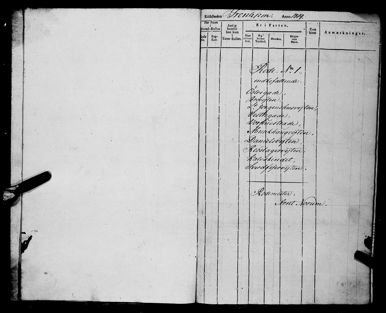 SAT, Sjøinnrulleringen - Trondhjemske distrikt, 01/L0017: Rulle over Trondhjem by, 1819
