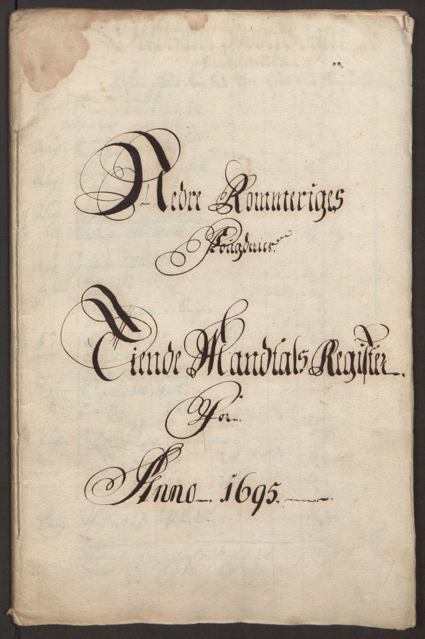 RA, Rentekammeret inntil 1814, Reviderte regnskaper, Fogderegnskap, R11/L0579: Fogderegnskap Nedre Romerike, 1694-1695, s. 249