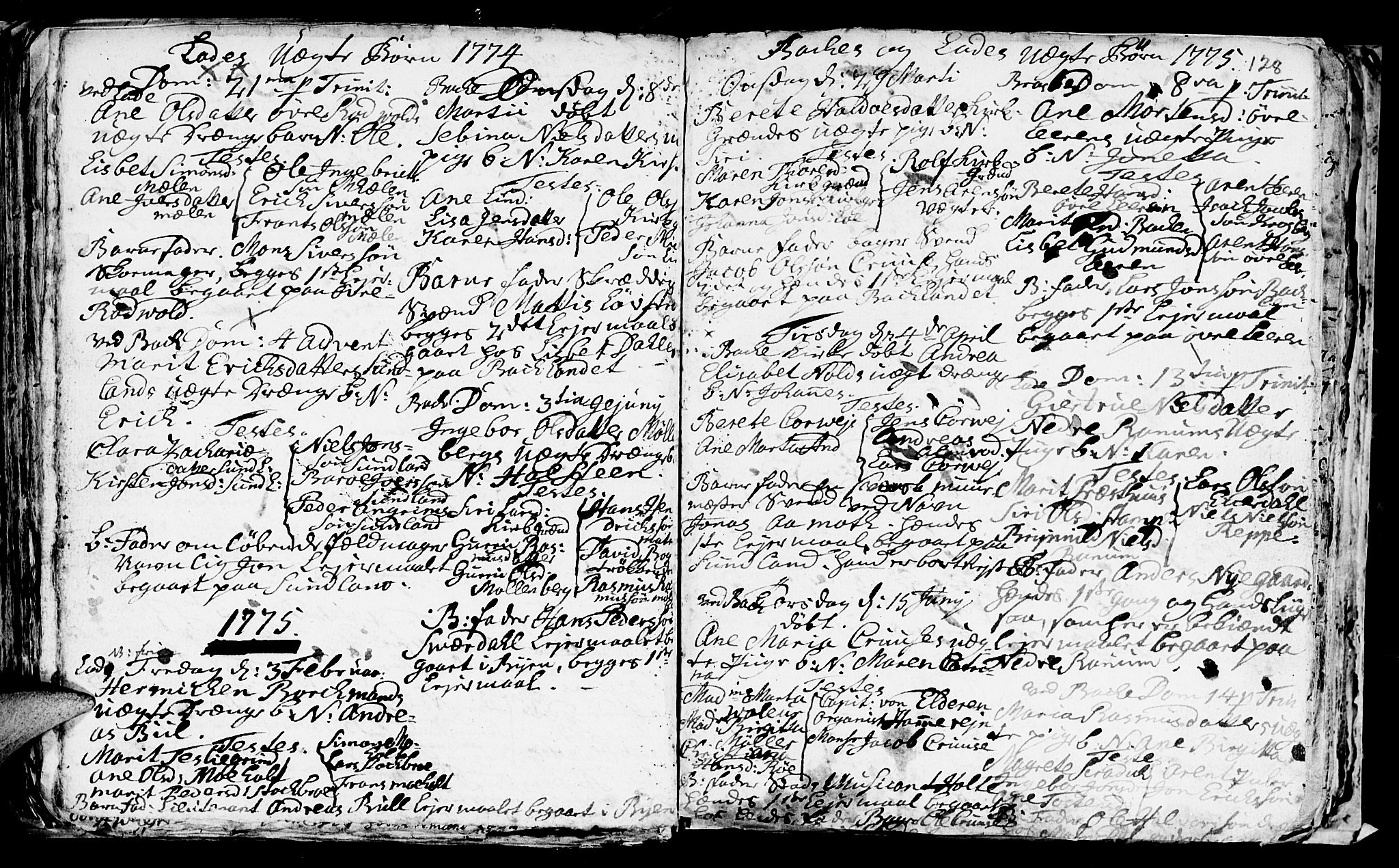 SAT, Ministerialprotokoller, klokkerbøker og fødselsregistre - Sør-Trøndelag, 606/L0305: Klokkerbok nr. 606C01, 1757-1819, s. 128