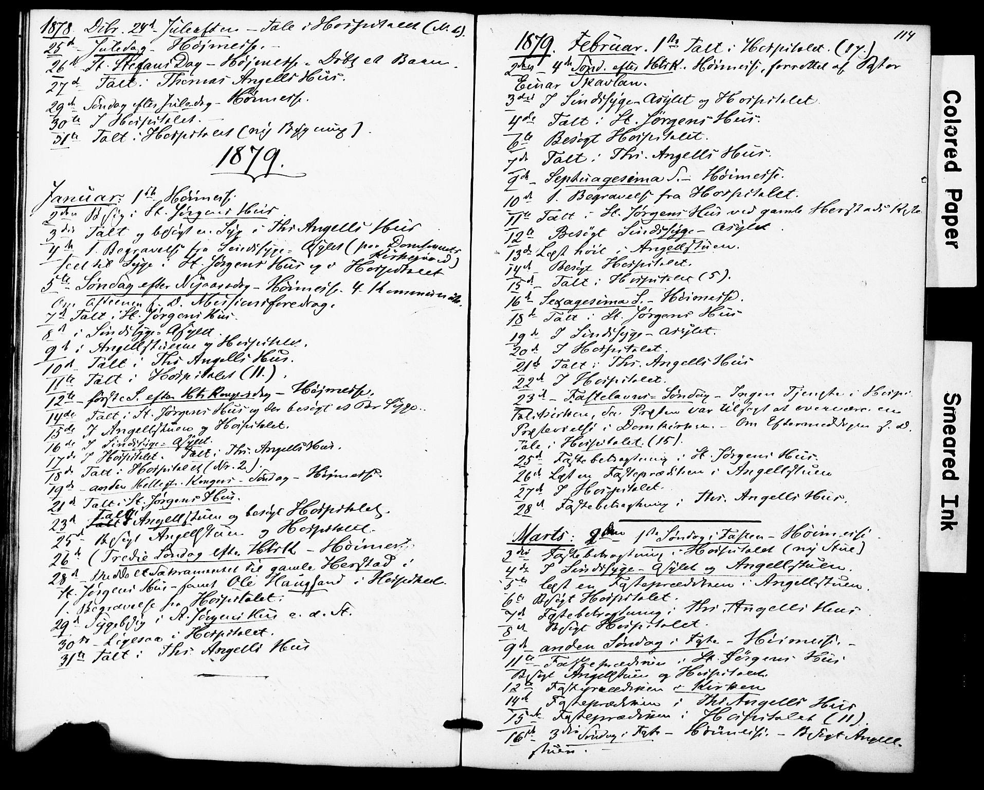SAT, Ministerialprotokoller, klokkerbøker og fødselsregistre - Sør-Trøndelag, 623/L0469: Ministerialbok nr. 623A03, 1868-1883, s. 114