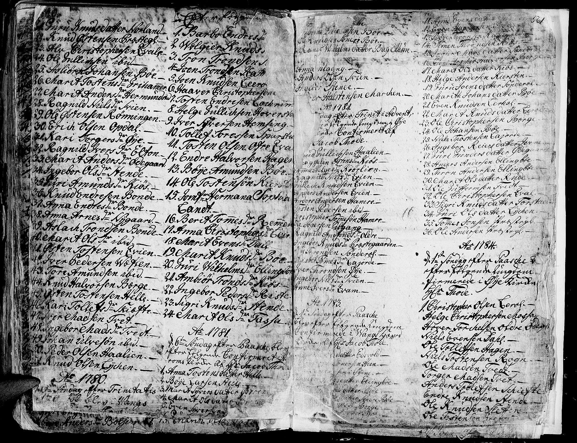 SAH, Vang prestekontor, Valdres, Ministerialbok nr. 1, 1730-1796, s. 560-561