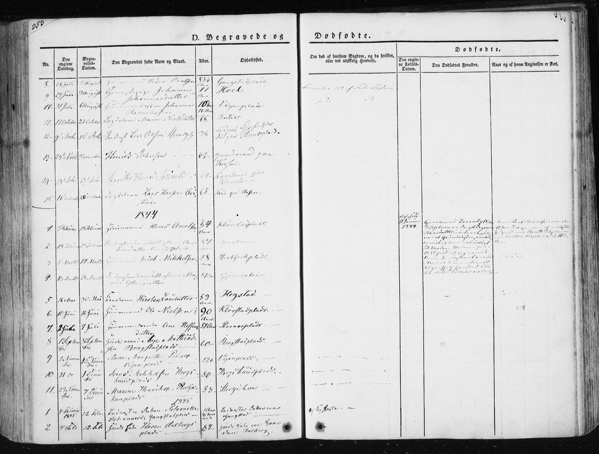 SAT, Ministerialprotokoller, klokkerbøker og fødselsregistre - Nord-Trøndelag, 730/L0280: Ministerialbok nr. 730A07 /3, 1840-1854, s. 353