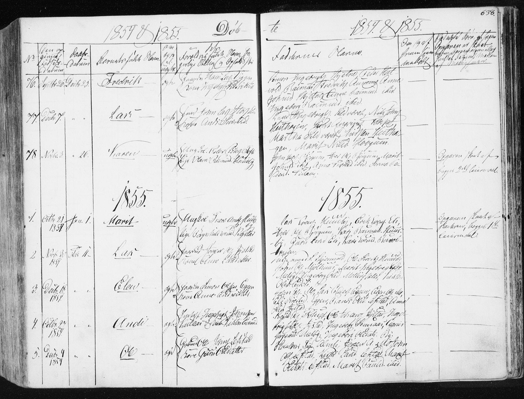 SAT, Ministerialprotokoller, klokkerbøker og fødselsregistre - Sør-Trøndelag, 665/L0771: Ministerialbok nr. 665A06, 1830-1856, s. 638