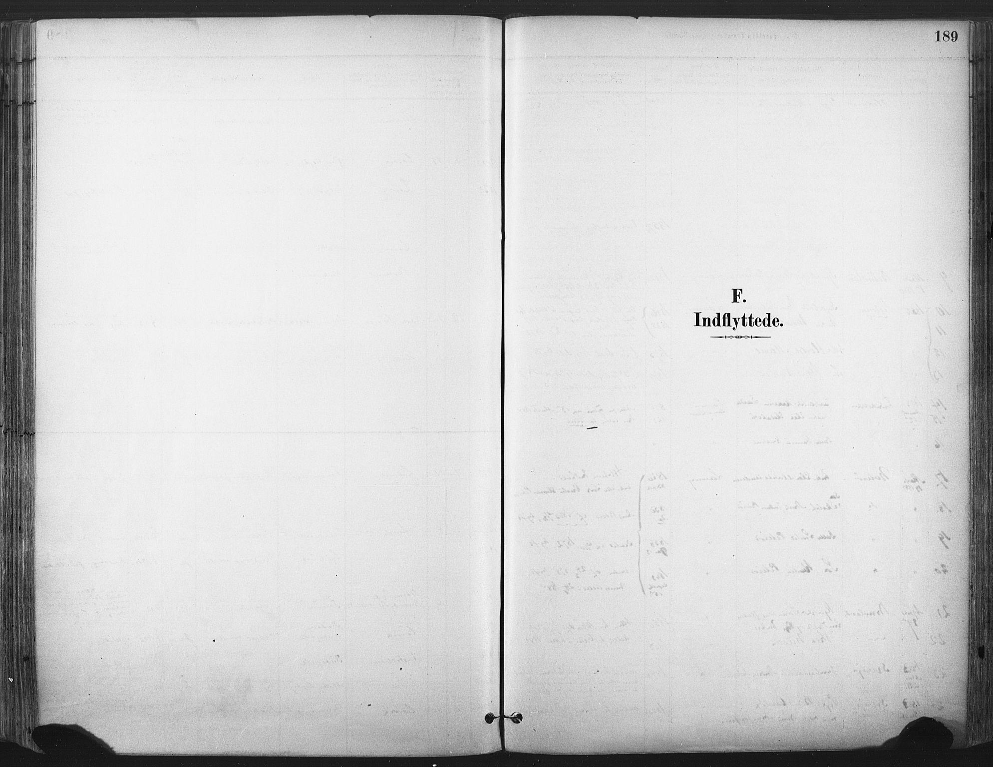 SAKO, Larvik kirkebøker, F/Fa/L0010: Ministerialbok nr. I 10, 1884-1910, s. 189