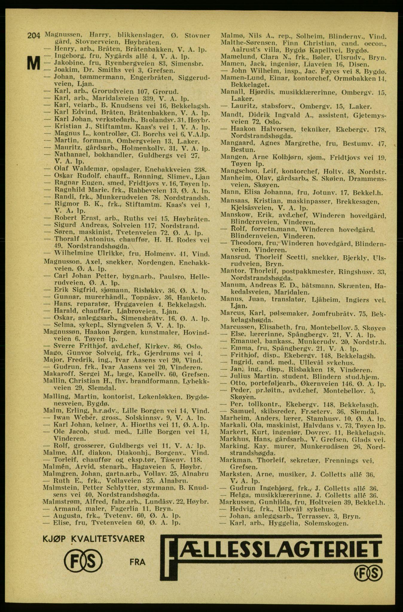 PUBL, Aker adressebok/adressekalender, 1934-1935, s. 204