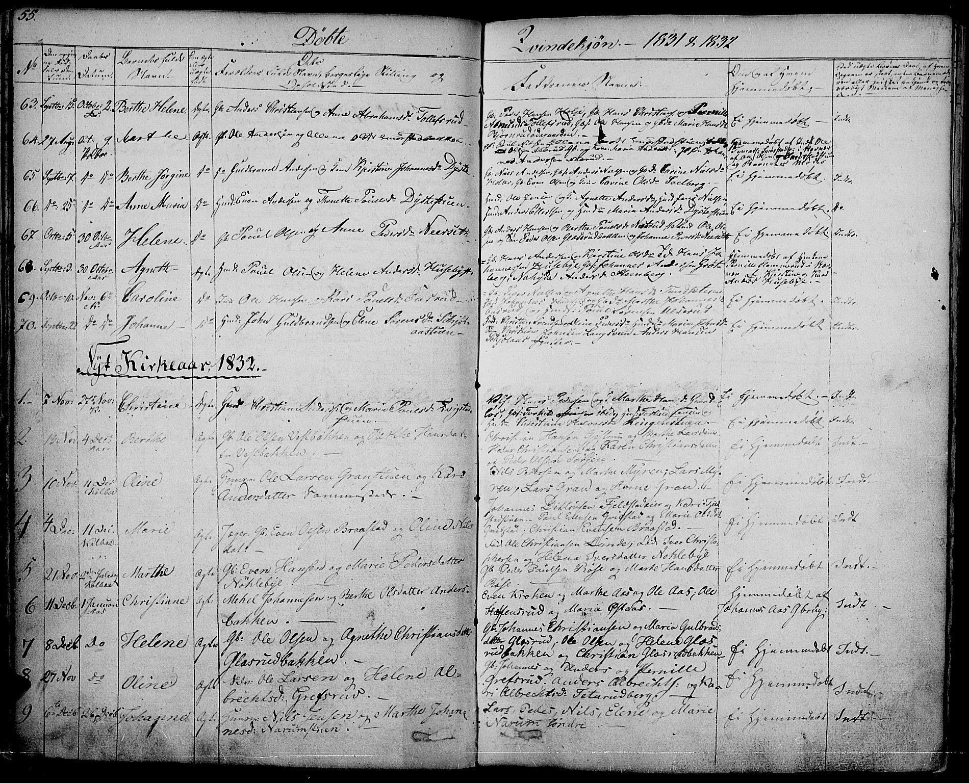 SAH, Vestre Toten prestekontor, H/Ha/Haa/L0002: Ministerialbok nr. 2, 1825-1837, s. 55