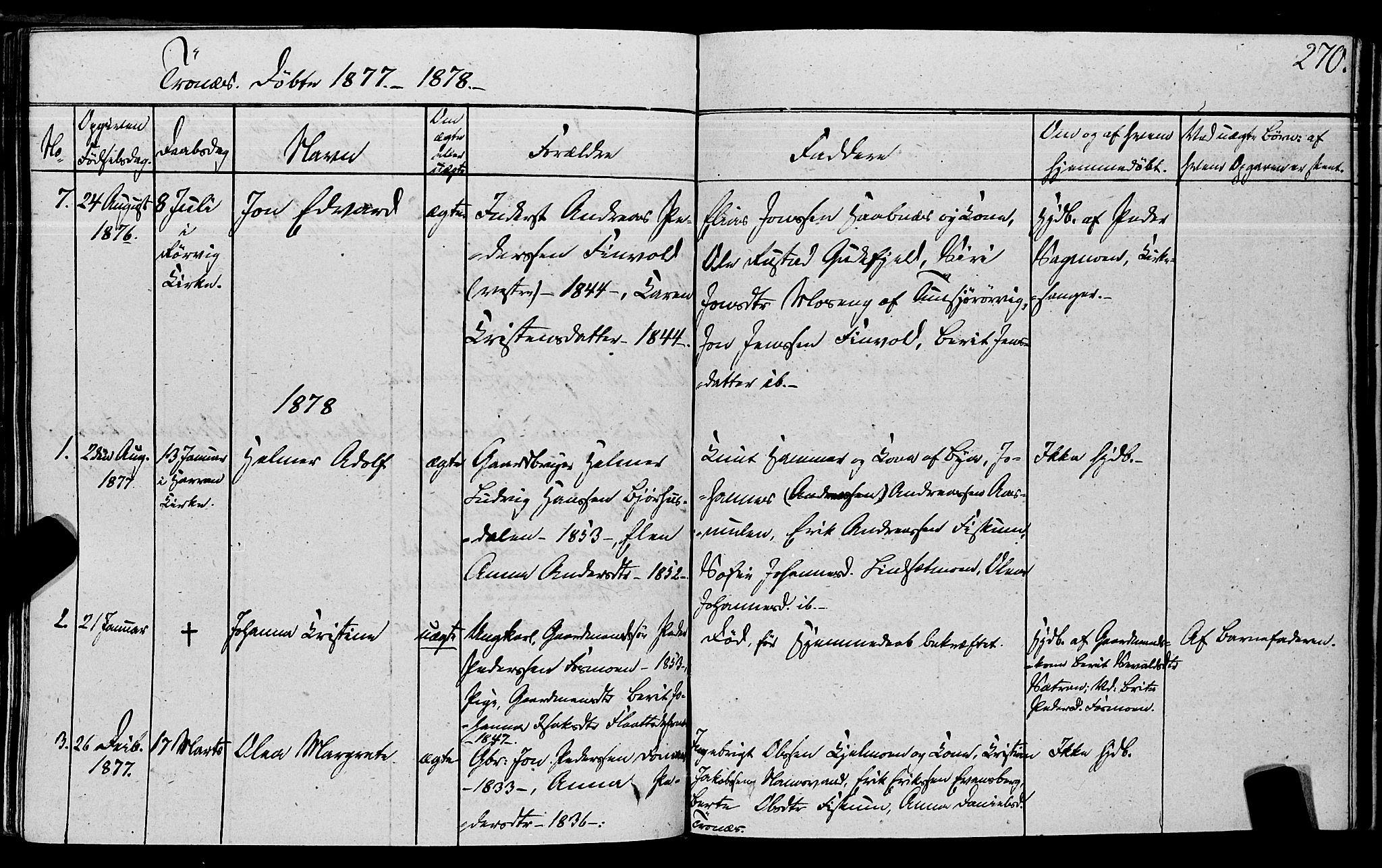 SAT, Ministerialprotokoller, klokkerbøker og fødselsregistre - Nord-Trøndelag, 762/L0538: Ministerialbok nr. 762A02 /2, 1833-1879, s. 270