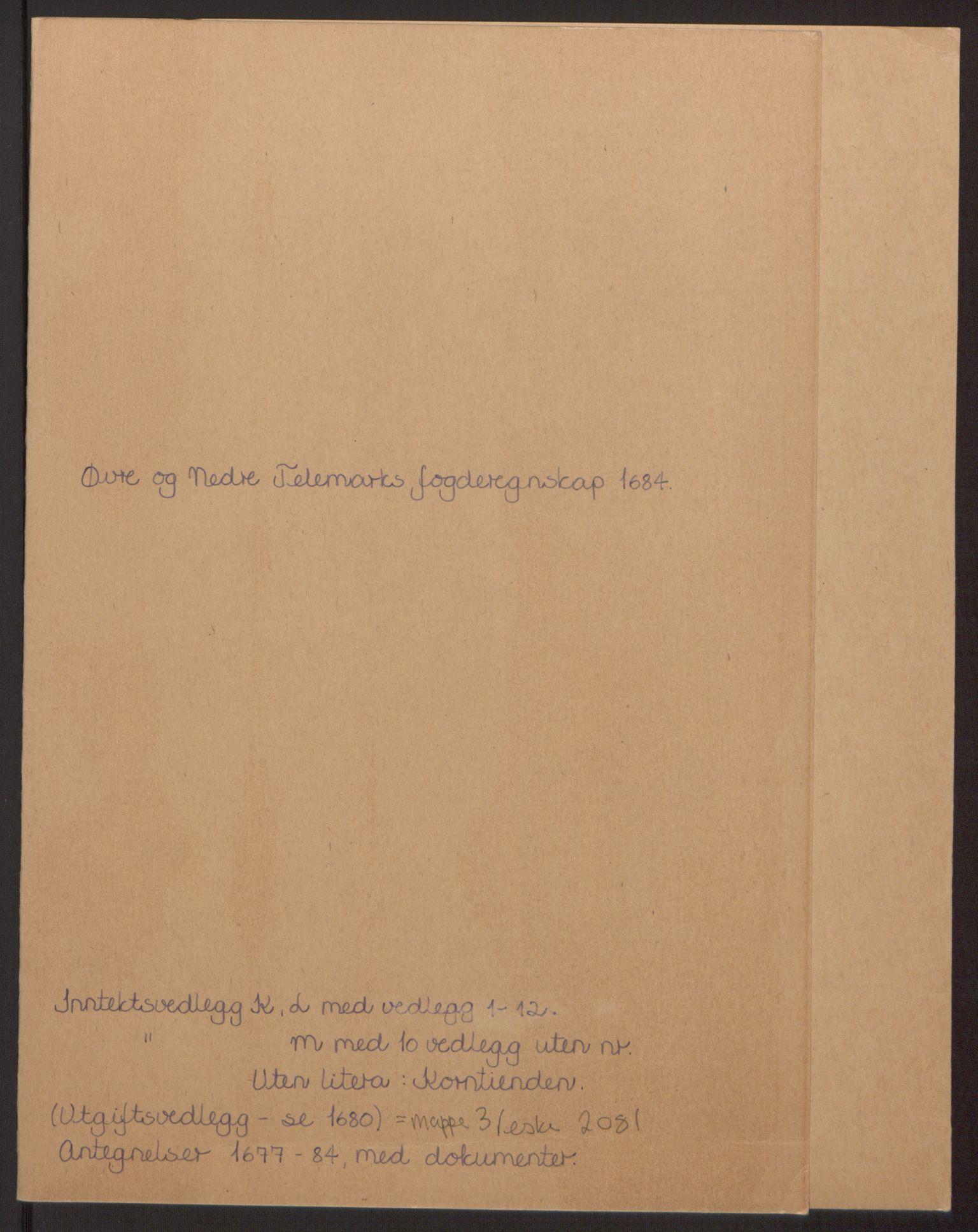 RA, Rentekammeret inntil 1814, Reviderte regnskaper, Fogderegnskap, R35/L2081: Fogderegnskap Øvre og Nedre Telemark, 1680-1684, s. 169