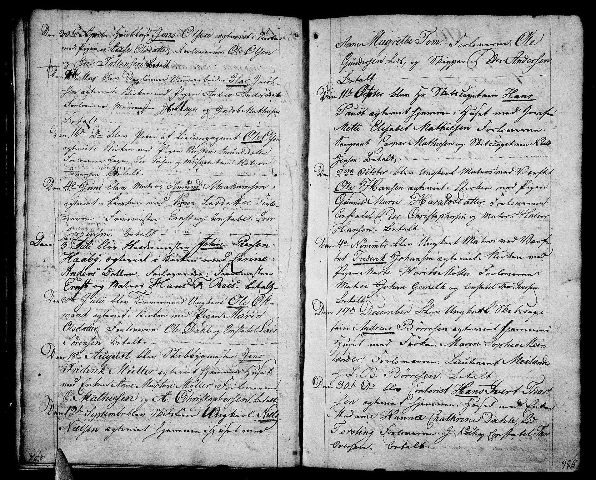 SAKO, Stavern kirkebøker, F/Fa/L0004: Ministerialbok nr. 4, 1809-1816, s. 536-537