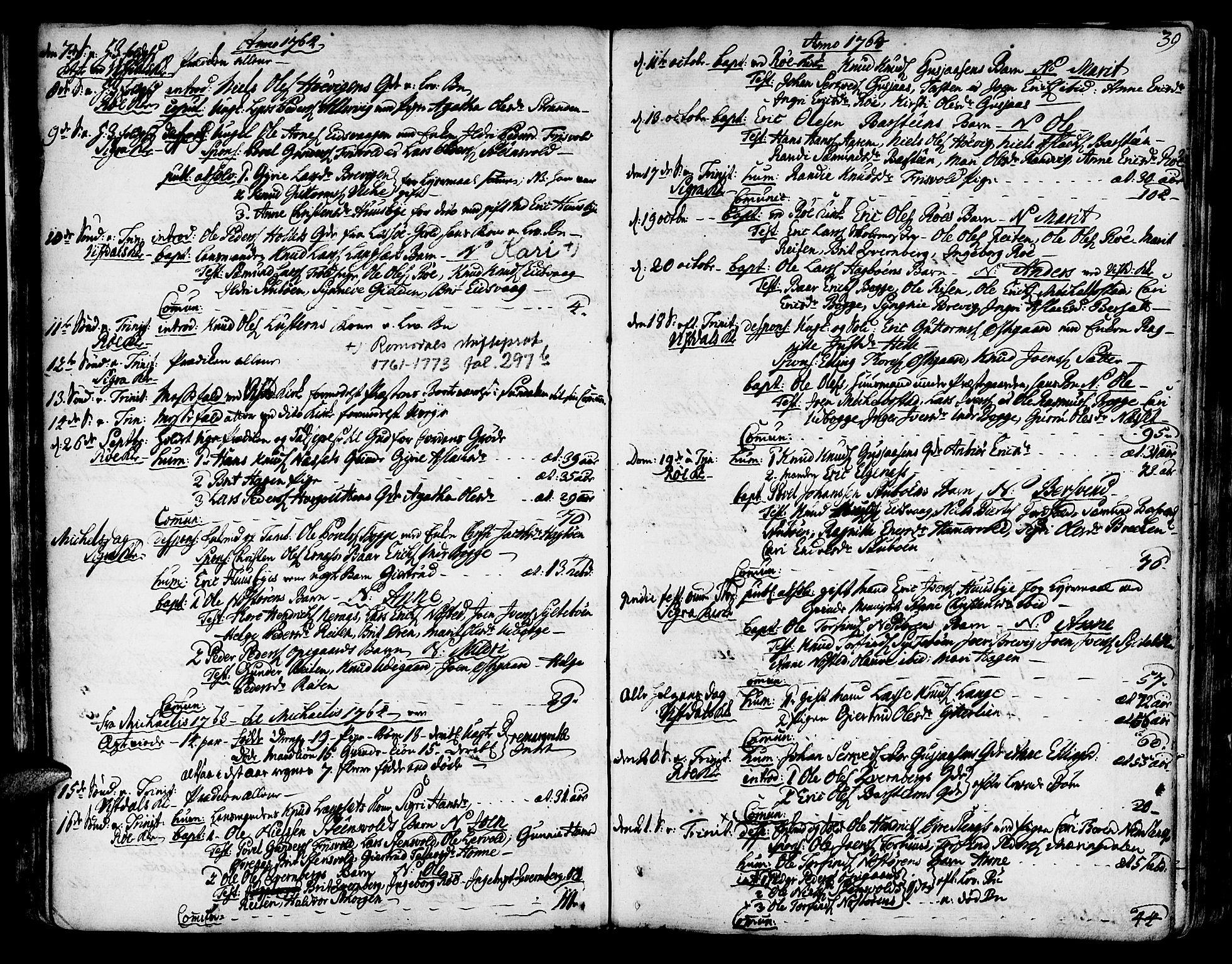 SAT, Ministerialprotokoller, klokkerbøker og fødselsregistre - Møre og Romsdal, 551/L0621: Ministerialbok nr. 551A01, 1757-1803, s. 39