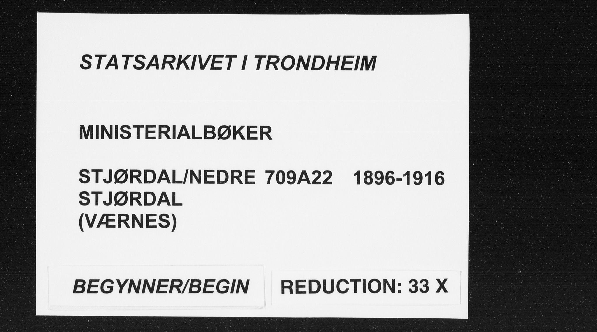SAT, Ministerialprotokoller, klokkerbøker og fødselsregistre - Nord-Trøndelag, 709/L0082: Ministerialbok nr. 709A22, 1896-1916