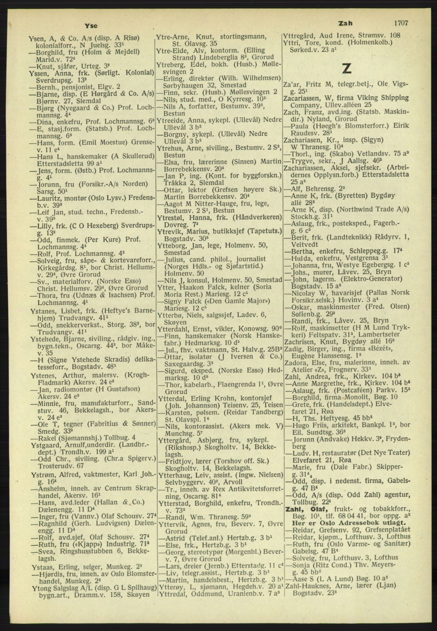 PUBL, Kristiania/Oslo adressebok, 1958-1959, s. 1707